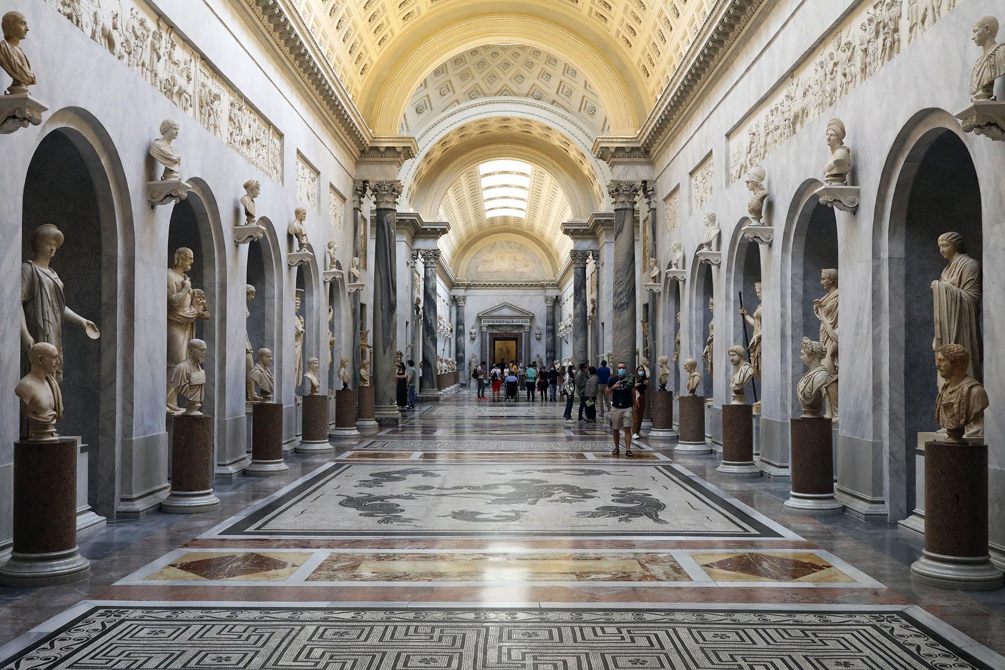 The sculptures of theBraccio Nuovoof the Vatican's Chiaramonti Gallery on June 8.