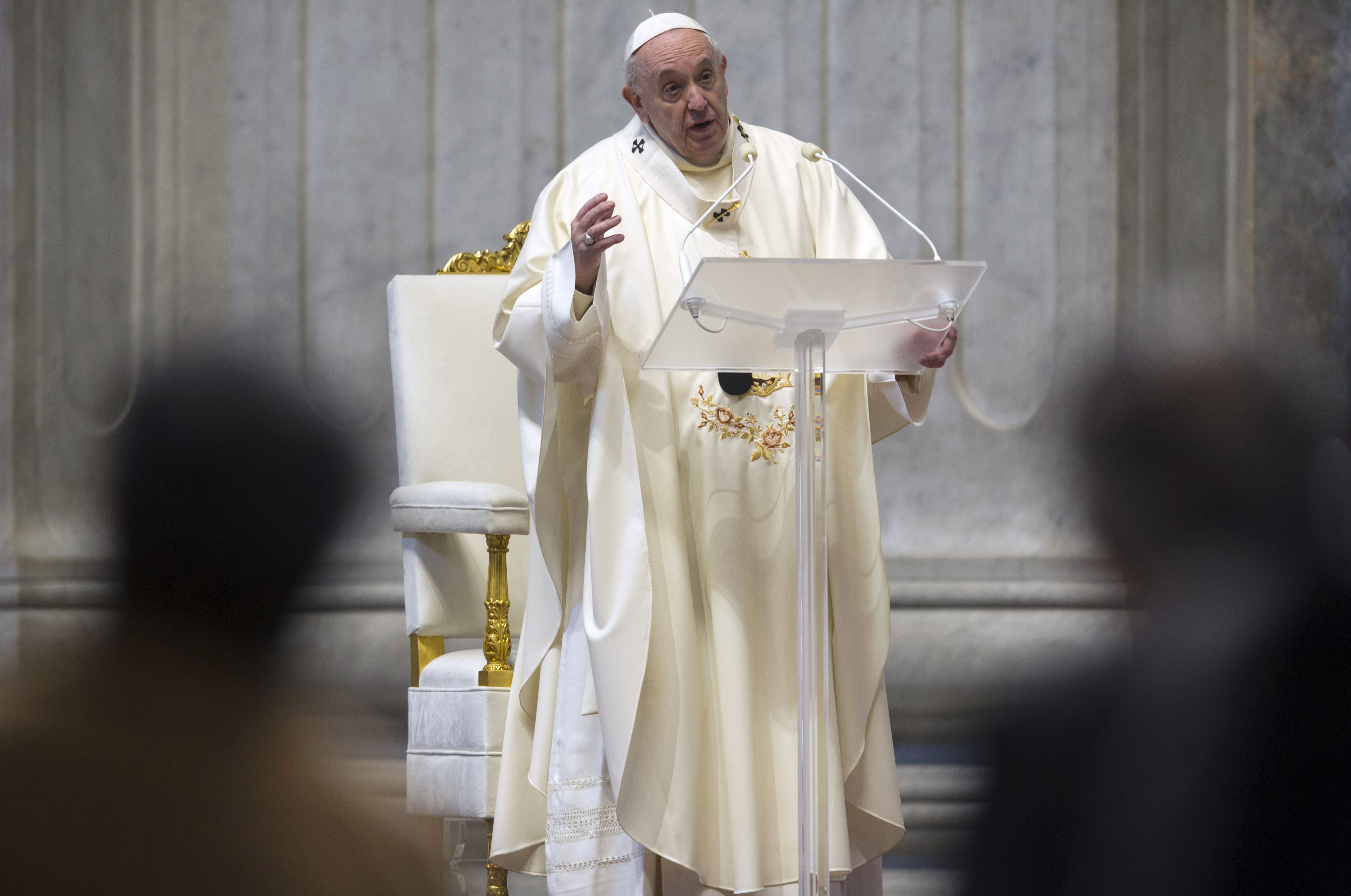 Pope Francis celebrates Holy Mass for the feast of Our Lady of Guadalupe in St. Peter's Basilica on December 12.