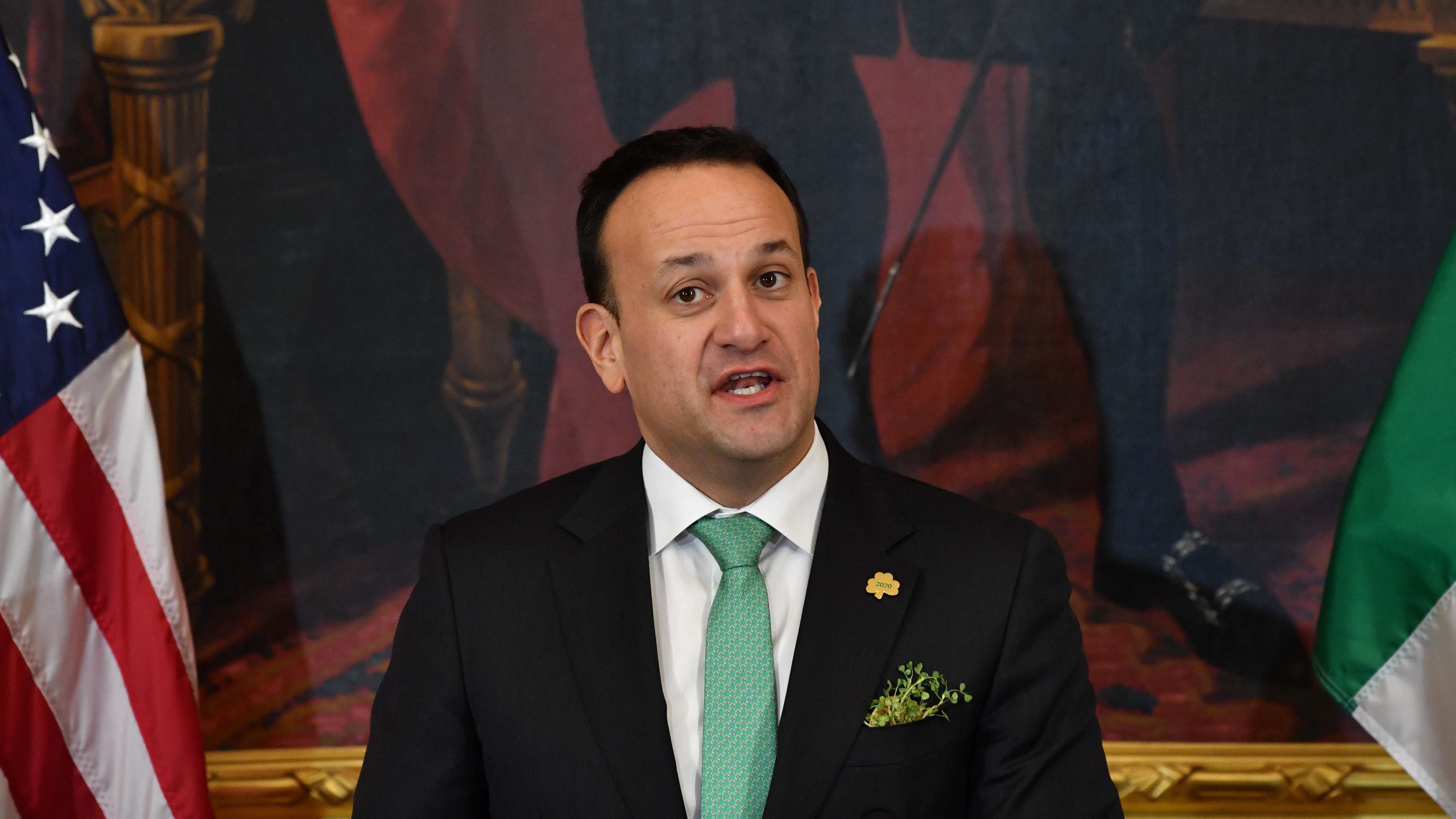 Irish Prime Minister Leo Varadkar speaks at the annual Friends Of Ireland luncheon hosted by the United States Congress in Washington on March 12.
