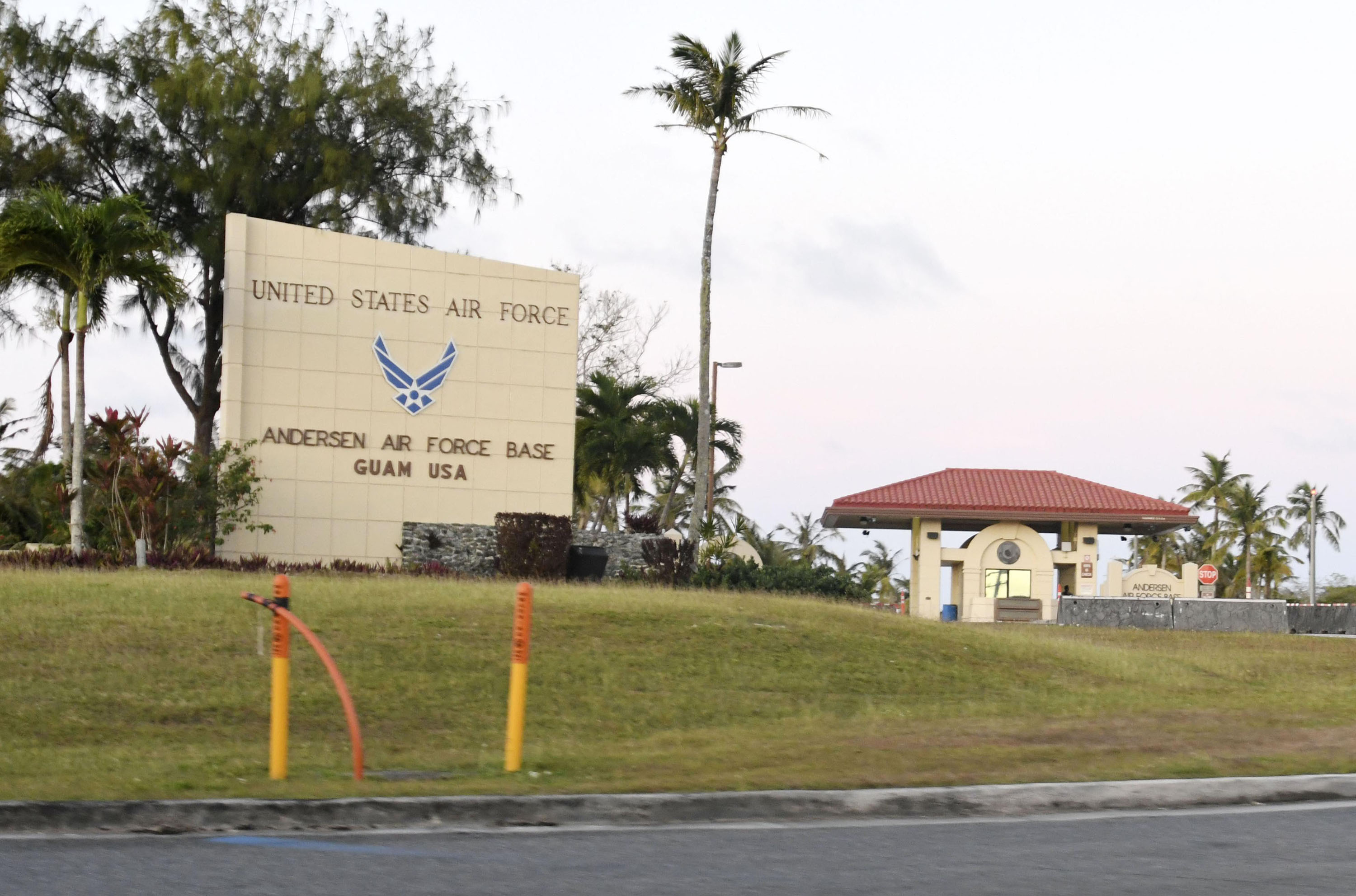 The Andersen Air Force Base in the U.S. territory of Guam is pictured in April 2019.