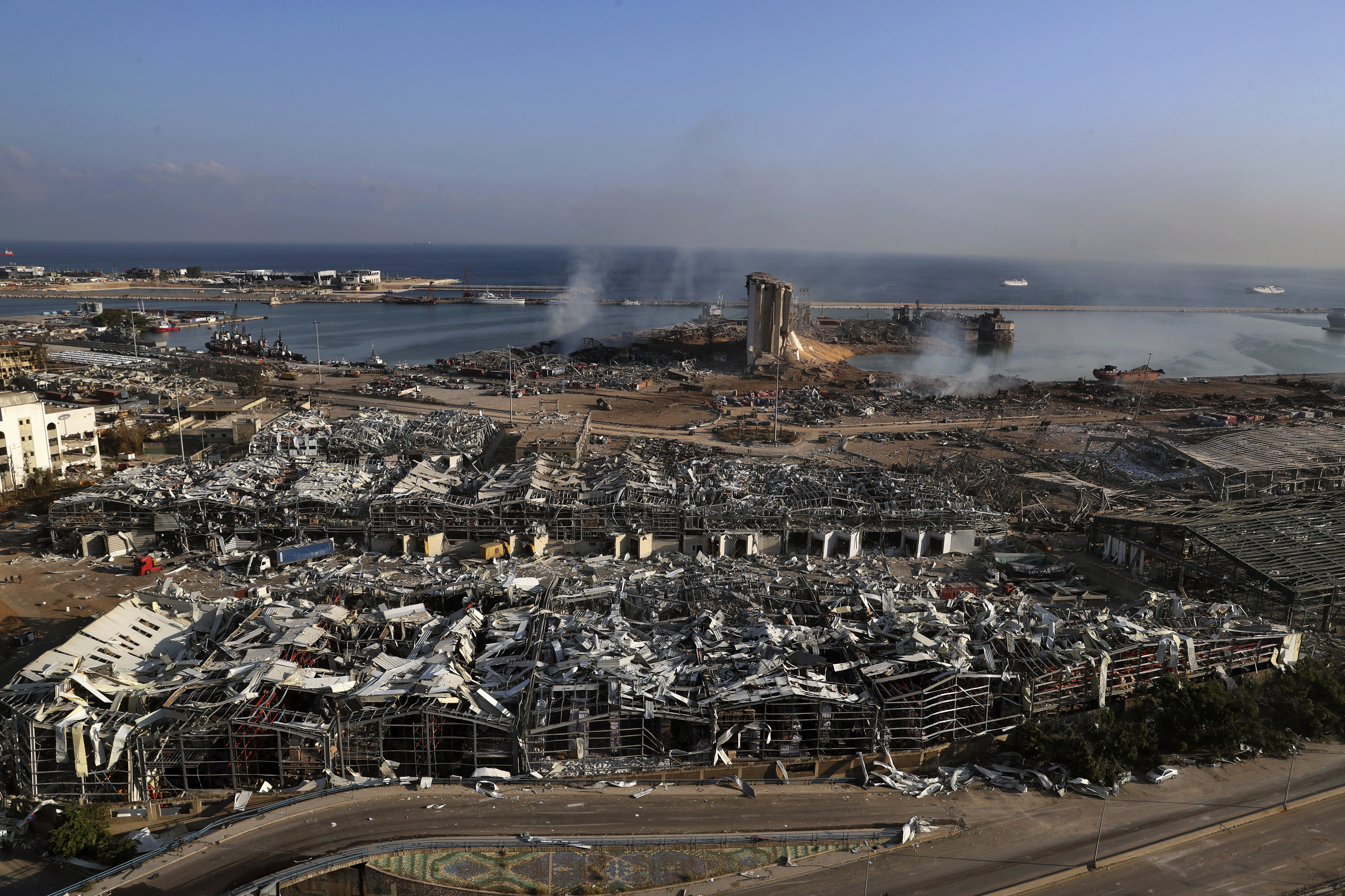 The aftermath of the explosion is pictured on August 5.