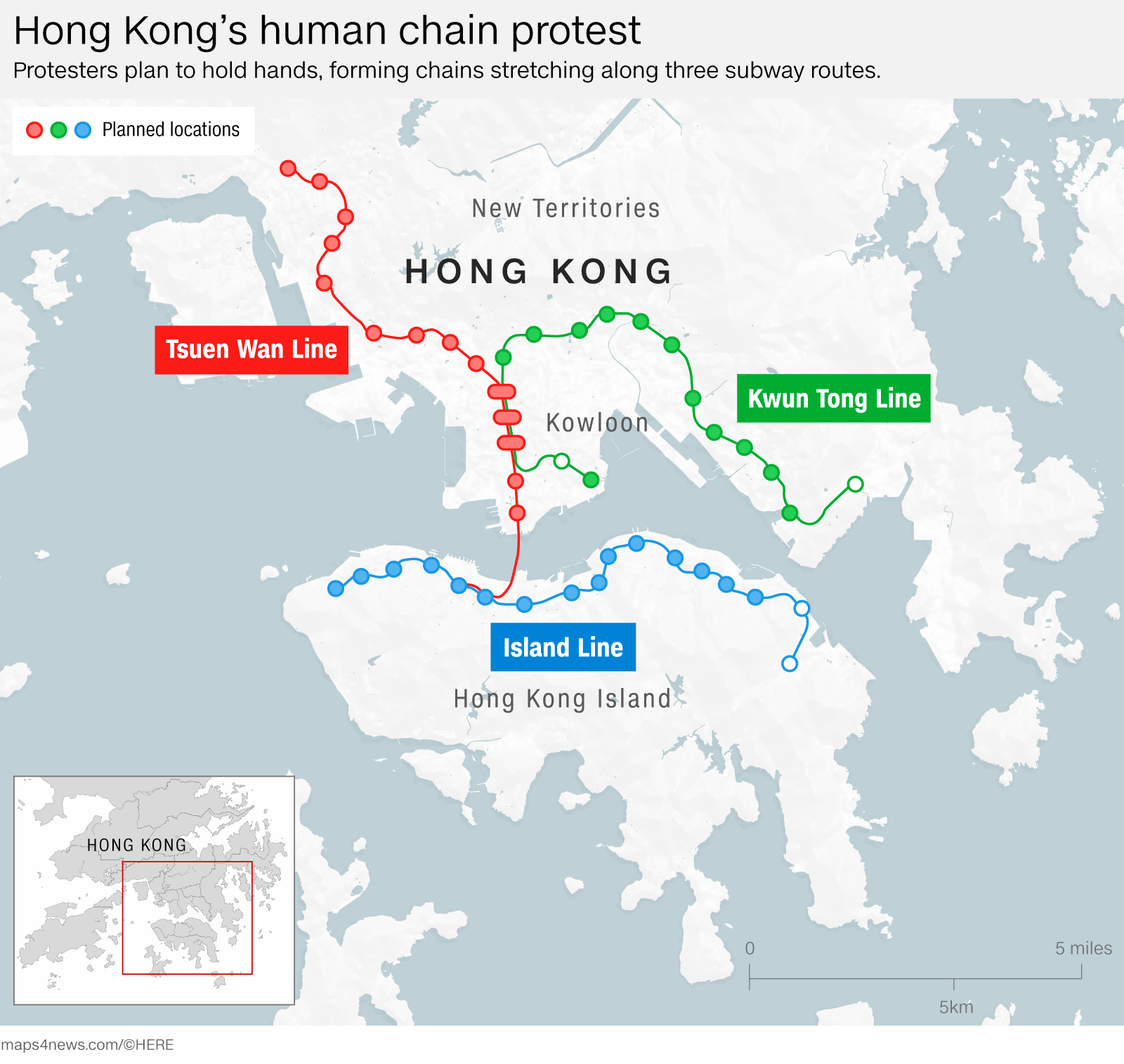 The evolution of Hong Kong's protest movement