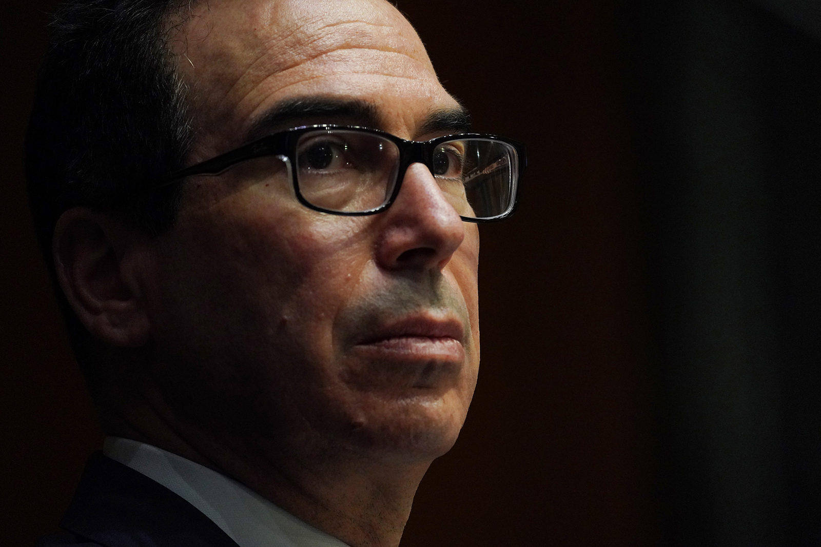 Steven Mnuchin, Secretary, Department of the Treasury during the Senate's Committee on Banking, Housing, and Urban Affairs hearing examining the quarterly CARES Act report to Congress in Washington, DC,  on September 24.
