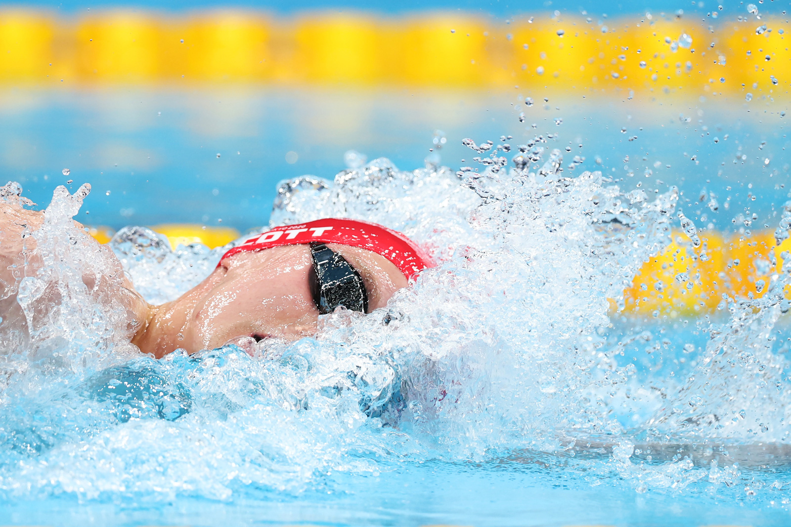 Duncan Scott of Team Great Britain competes in the Freestyle Relay final on July 28.