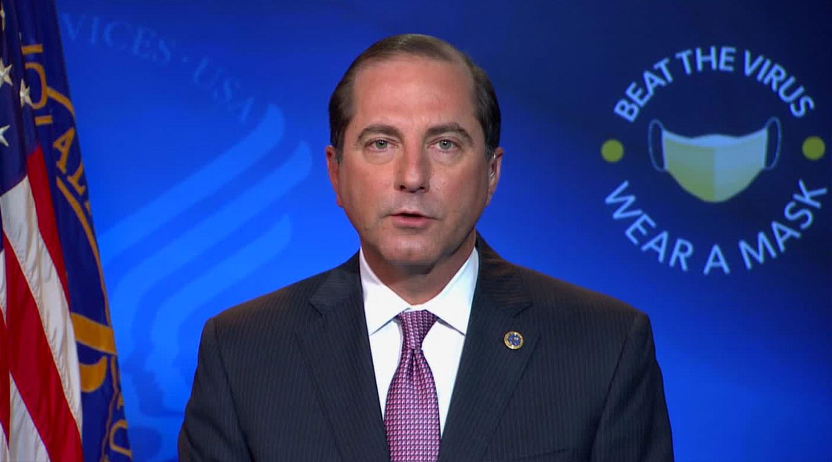 Alex Azar, US Health and Human Services secretary, on December 9.
