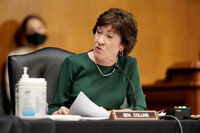 Sen. Susan Collins speaks during a hearing on May 11 in Washington, DC.