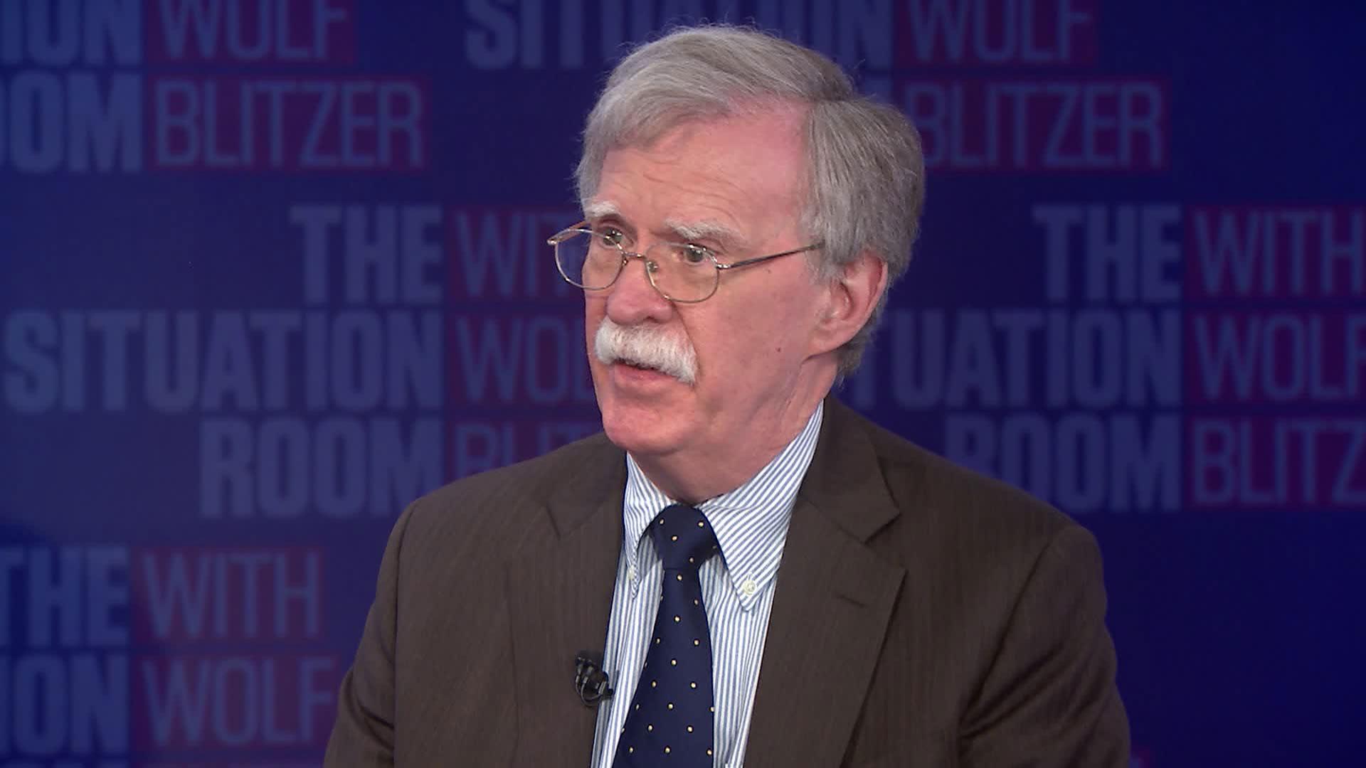 Former White House national security adviser John Bolton speaks with CNN's Wolf Blitzer on June 24.