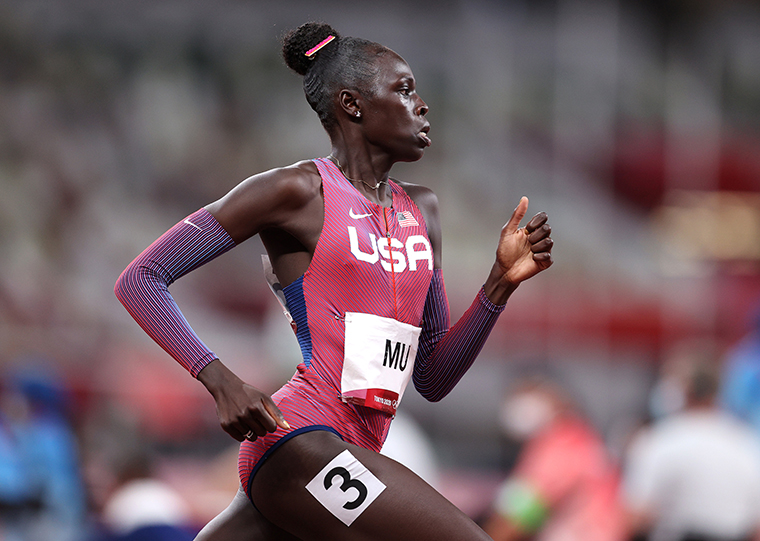 Athing Mu of Team United States competes in the Women's 800m final on day eleven of the Tokyo 2020 Olympic Games at Olympic Stadium on August 3, 2021.