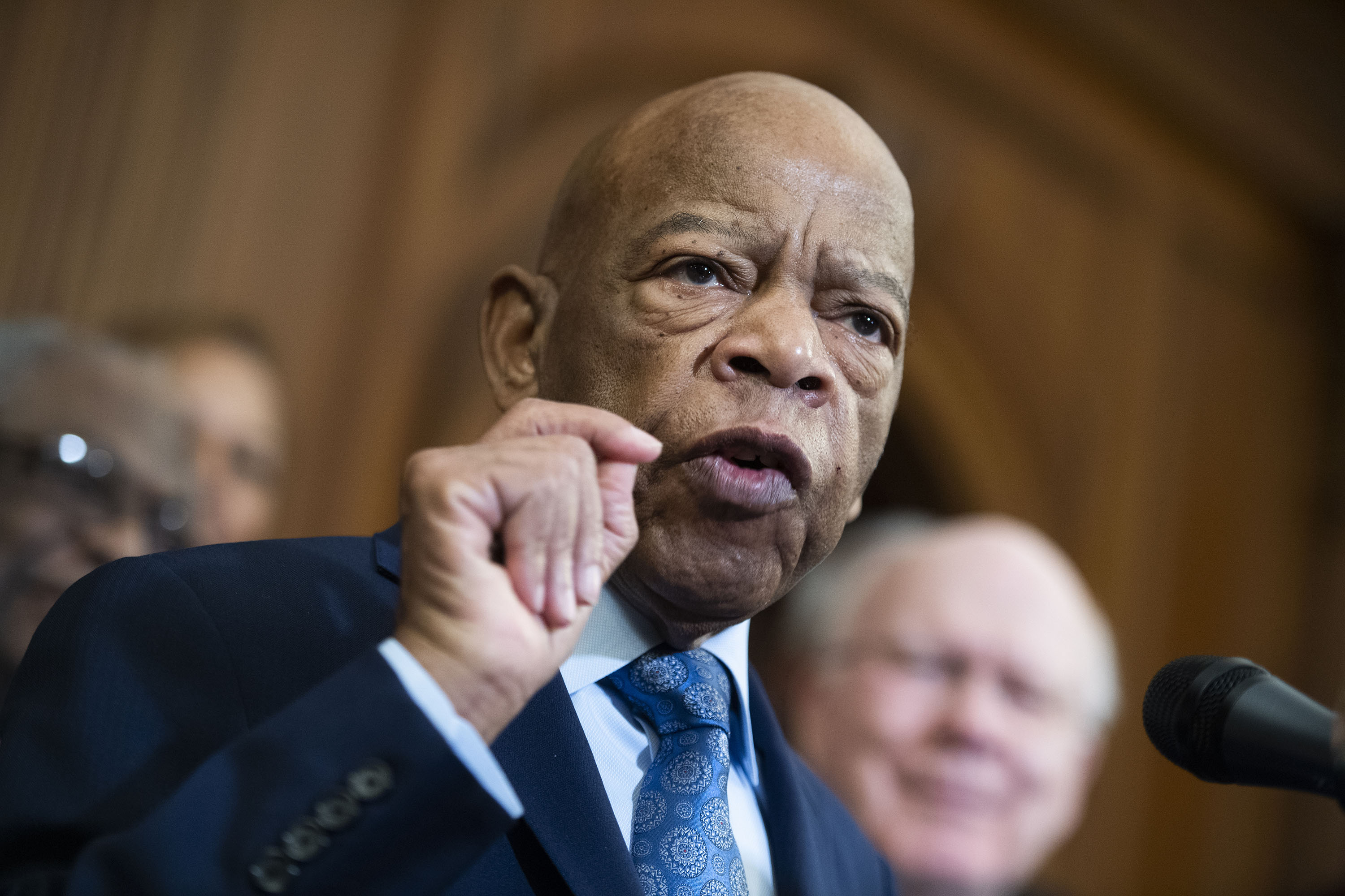 Rep. John Lewis, D-Ga., speaks during a news conference in the Capitol on the Voting Rights Advancement Act in Washington DC, on December 6, 2019.