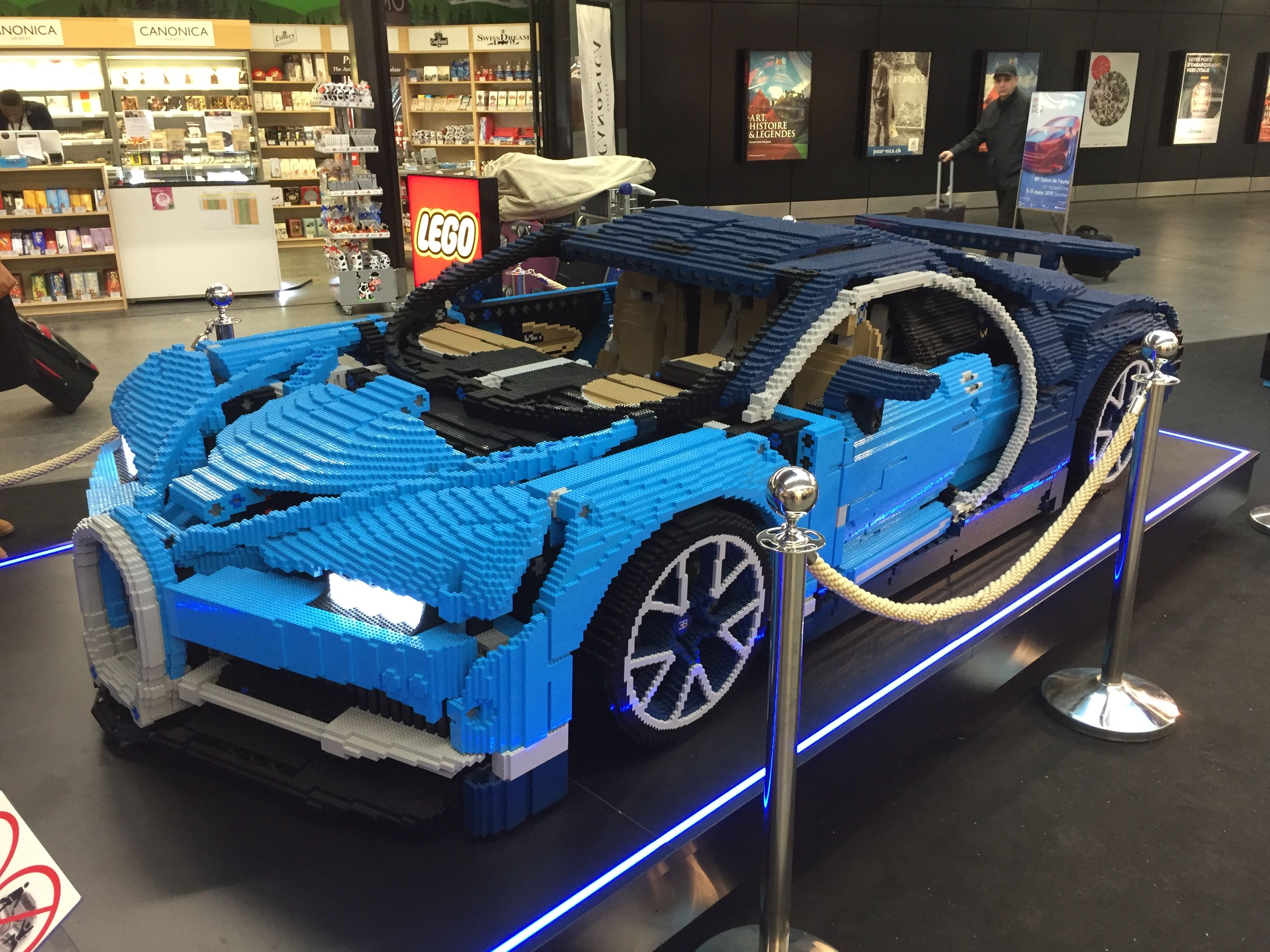 The Bugatti Chiron, in Lego form. Photo: Charles Riley/CNN