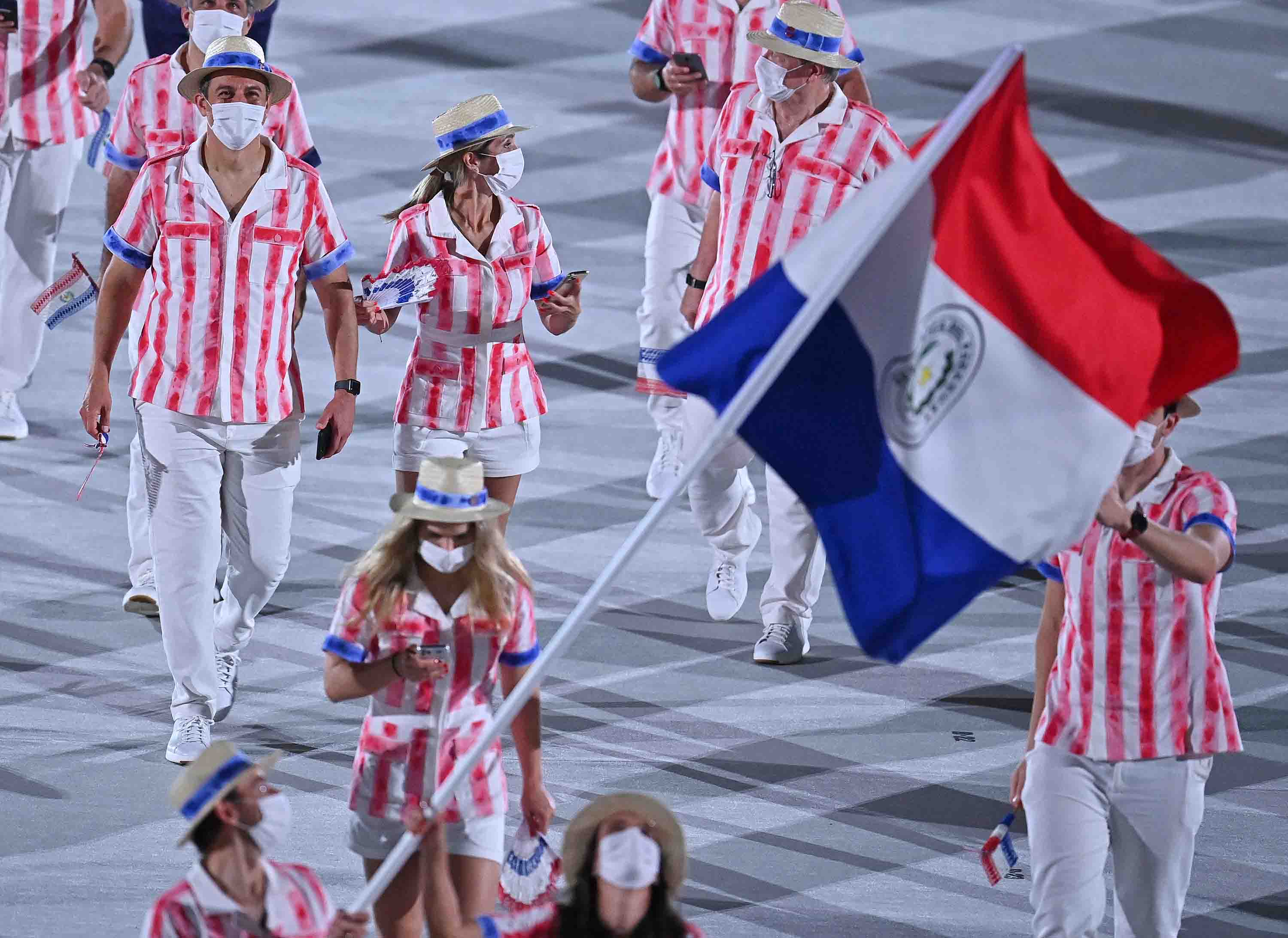 Paraguay's delegation parade during the Opening Ceremony.
