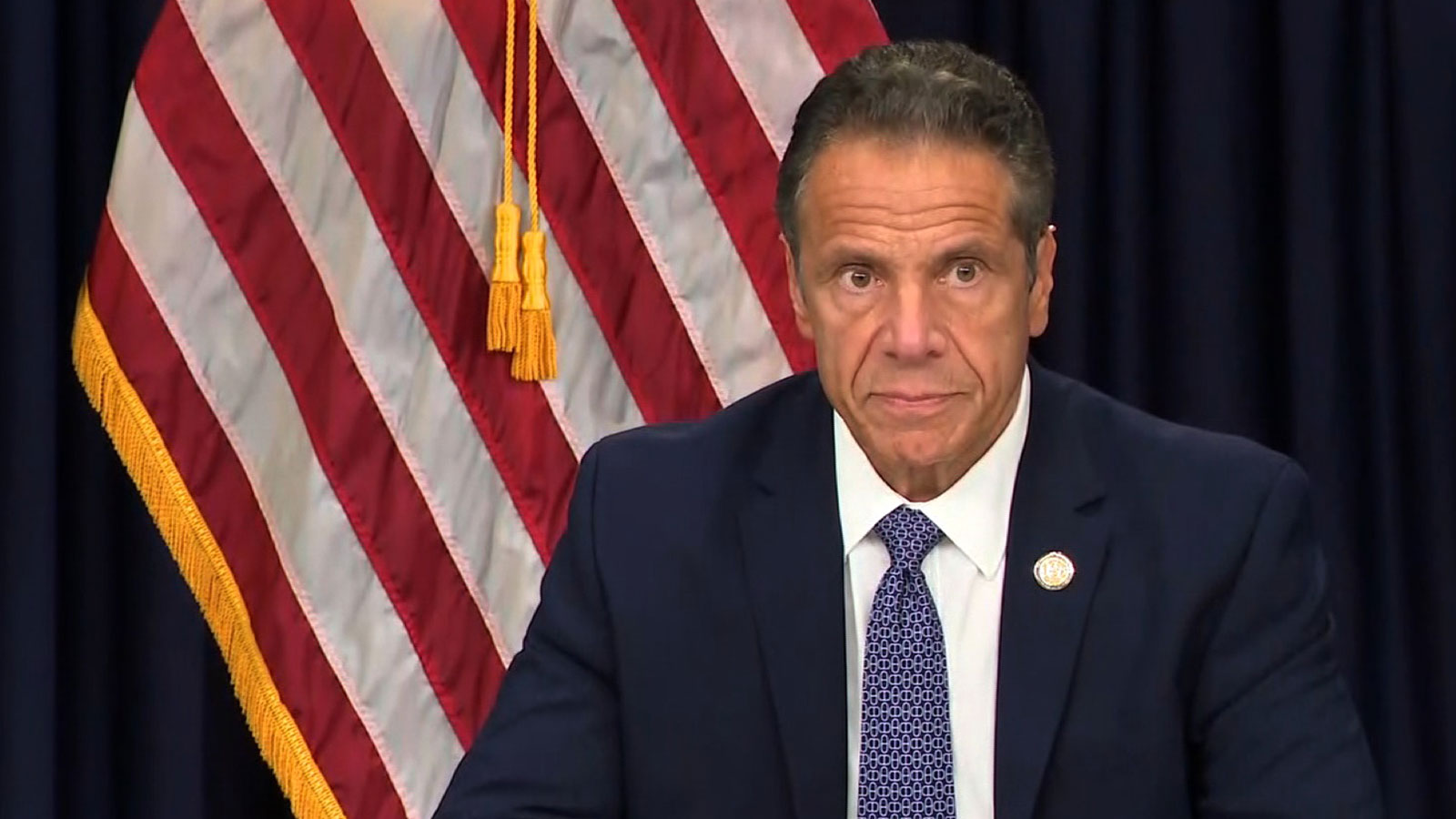 Gov. Andrew Cuomo speaks during a press conference on July 1 in New York.