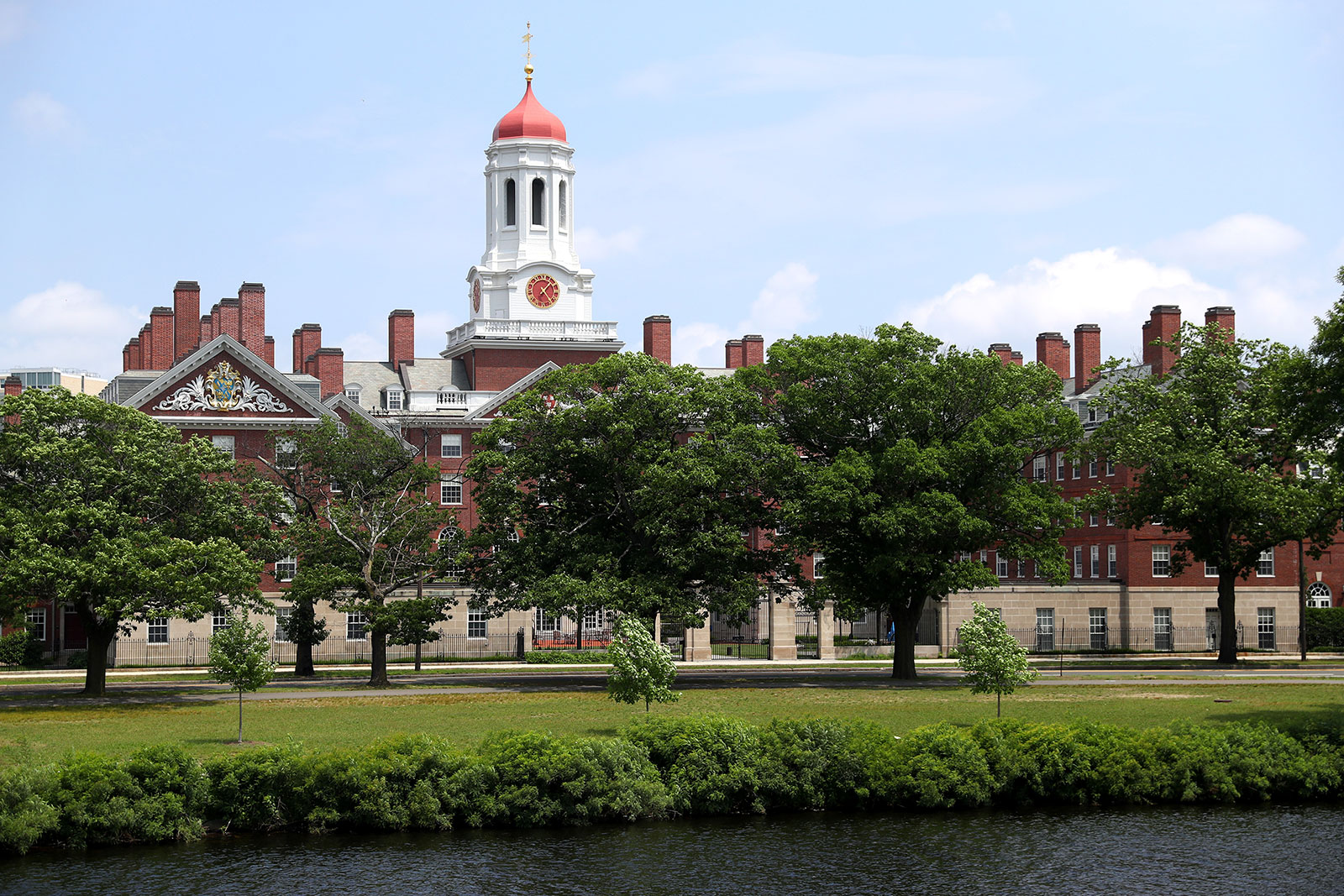 A view of the Harvard University campus on July 8.