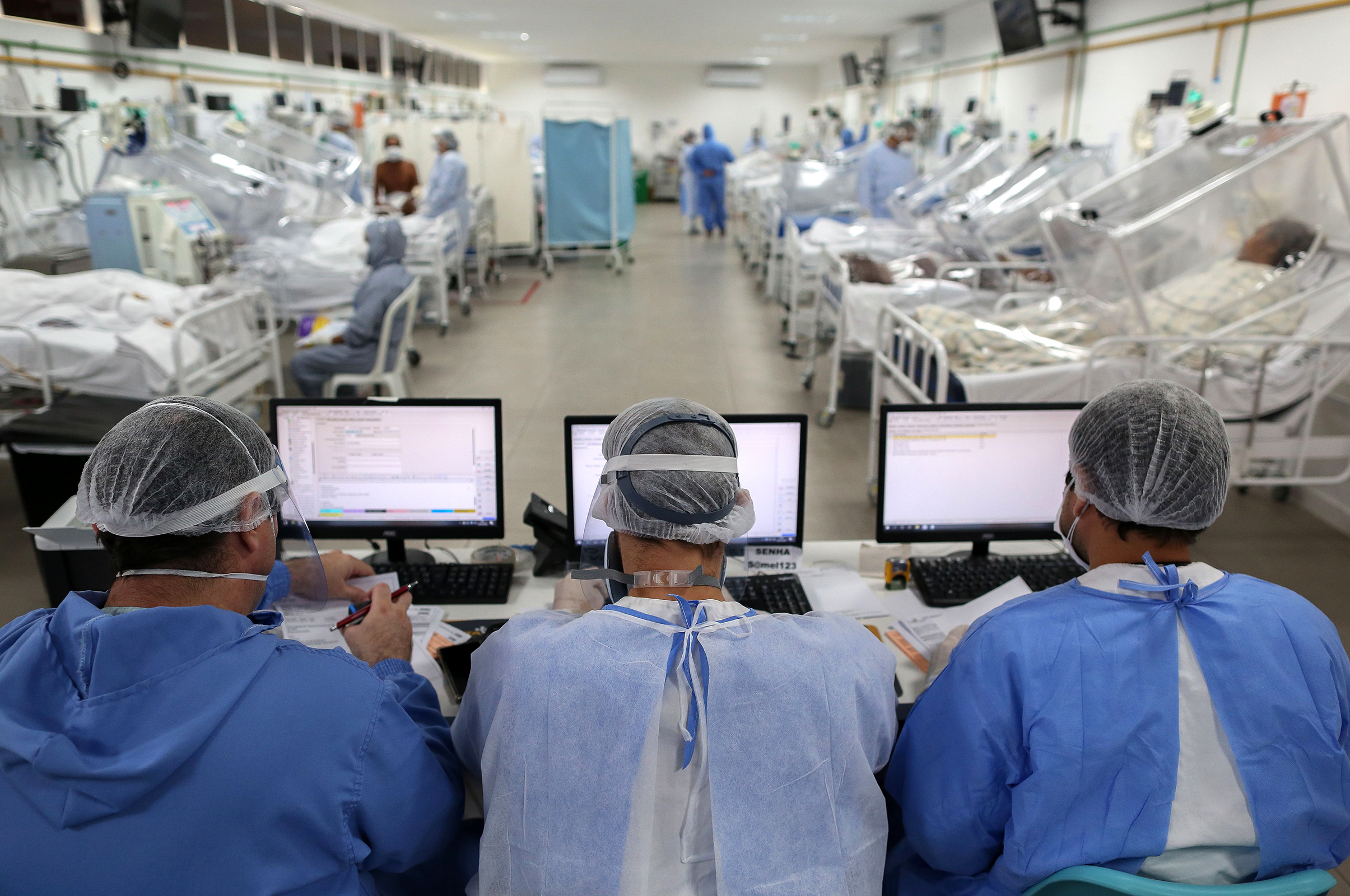 View of the Intensive Care Unit treating coronavirus (COVID-19) patients at a hospital in Manaus, Brazil, on May 20.