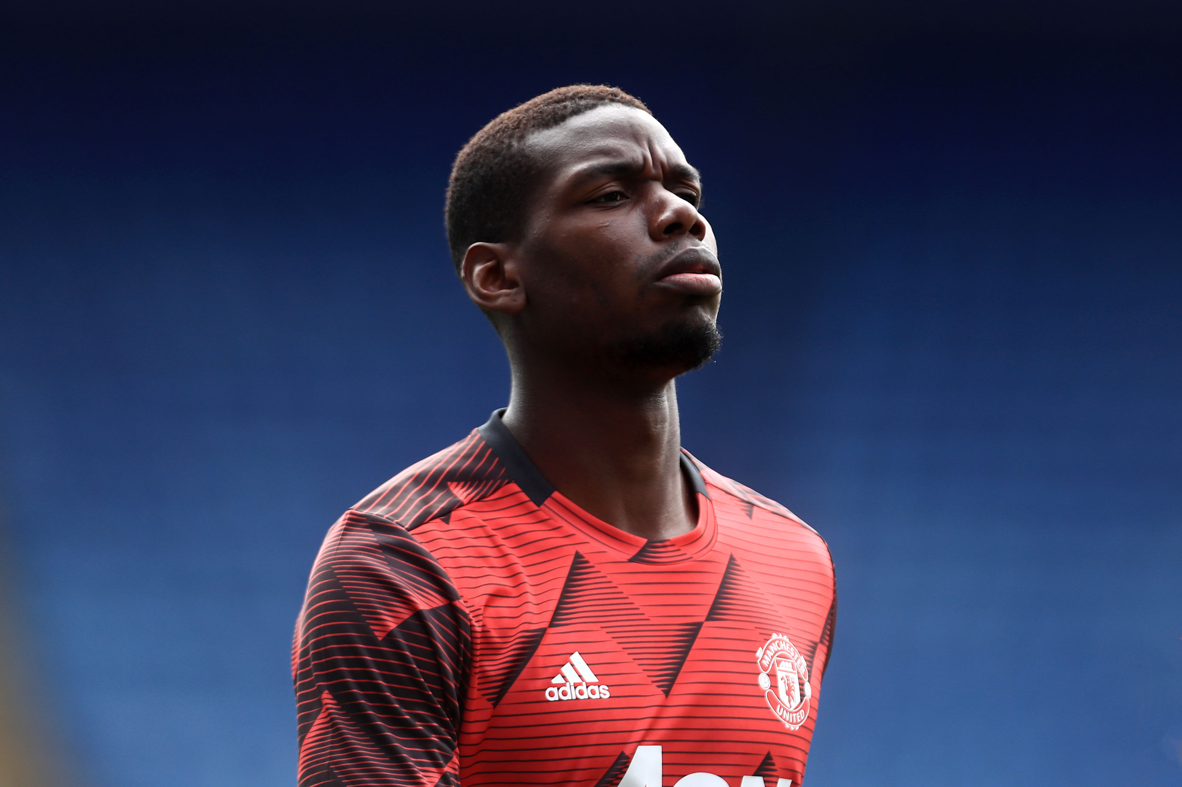 Manchester United's Paul Pogba is pictured during a Premier League match in Leicester, England, on July 26.