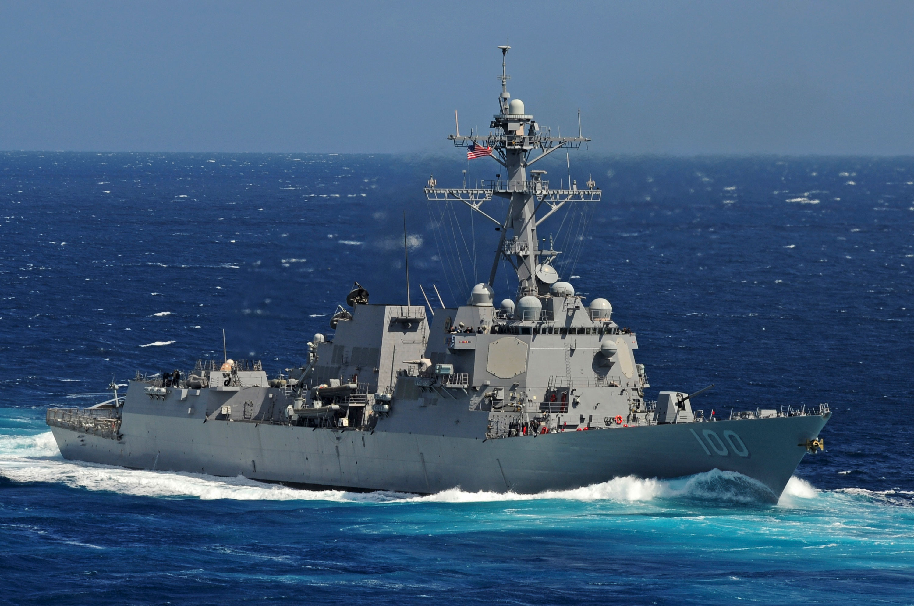 The USS Kidd is seen underway in the Pacific Ocean on May 18, 2011.