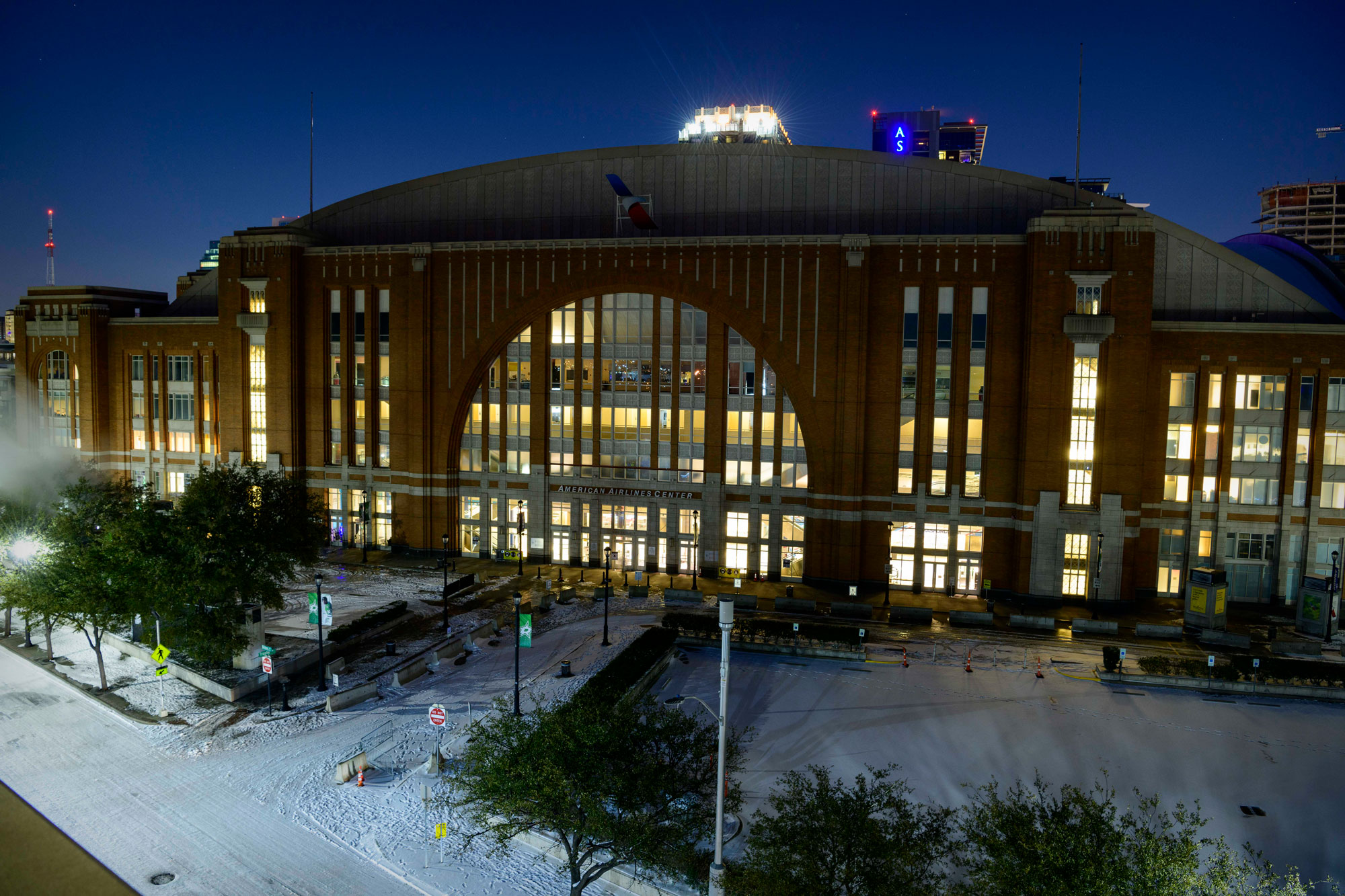American Airlines Center is seen on February 15 in Dallas, Texas.