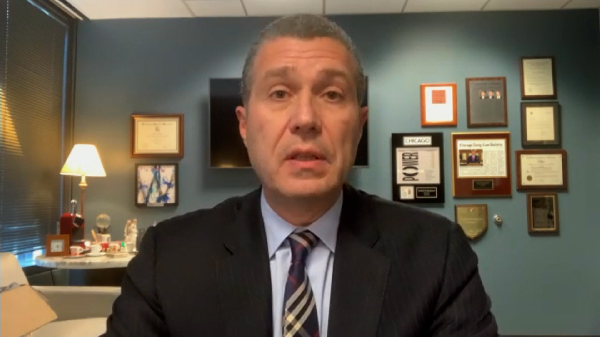 George Floydfamily attorney, Antonio Romanucci speaks during an interview on March 31.