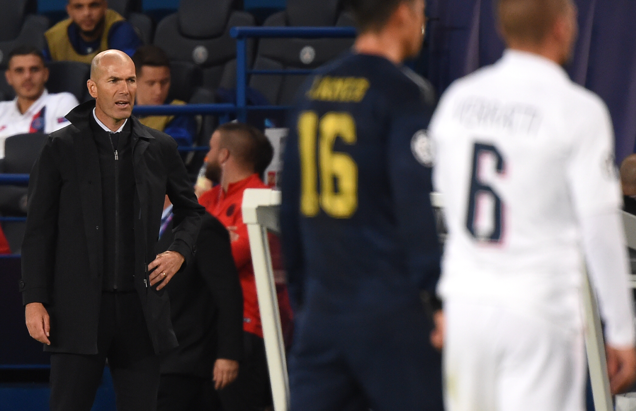Zinedine Zidane suffers defeat against PSG.