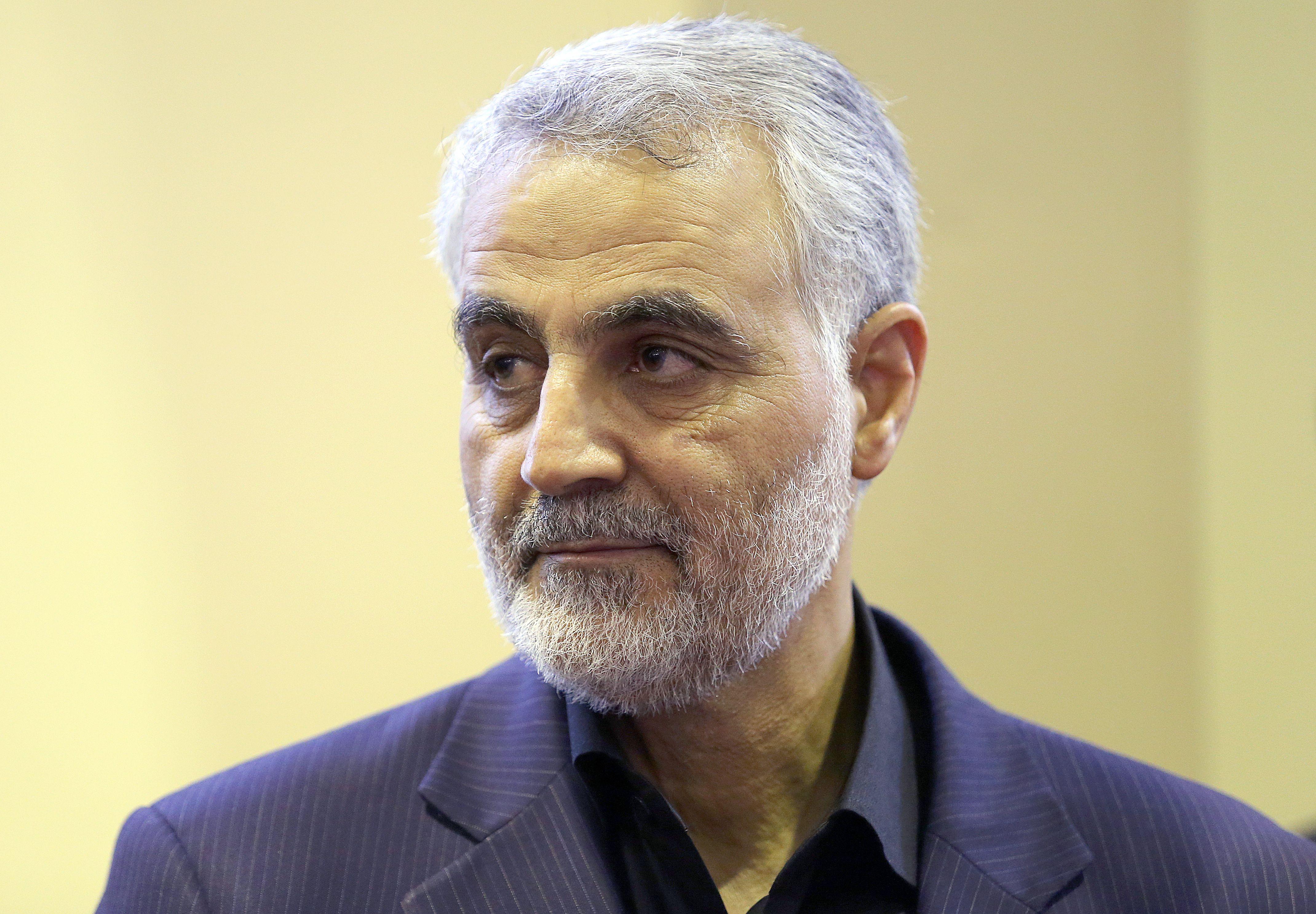Qasem Soleimani, the commander of Iran's Islamic Revolutionary Guards Corps (IRGC) Quds Force unit.