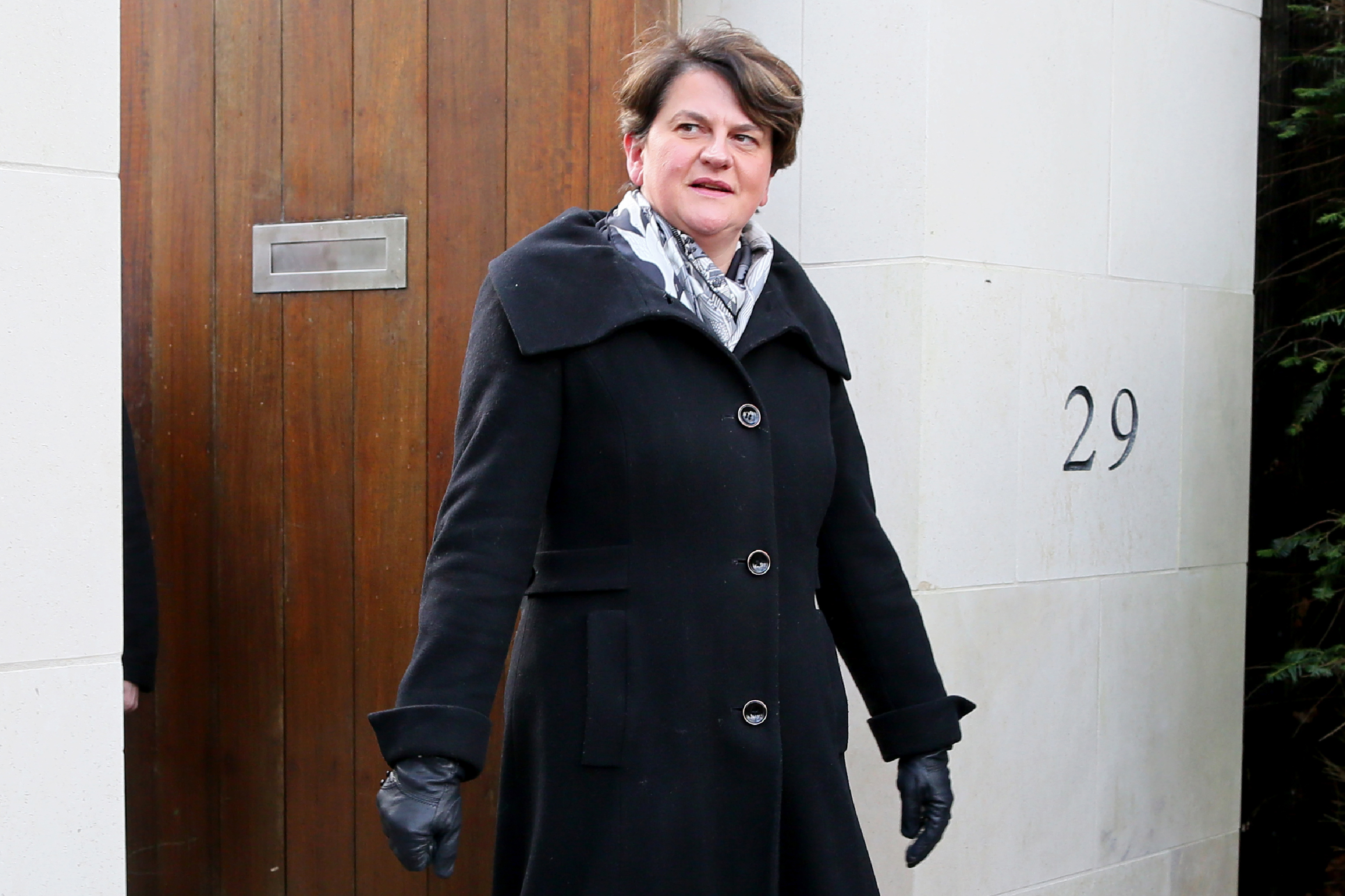 Democratic Unionist Party leader Arlene Foster on February 8.