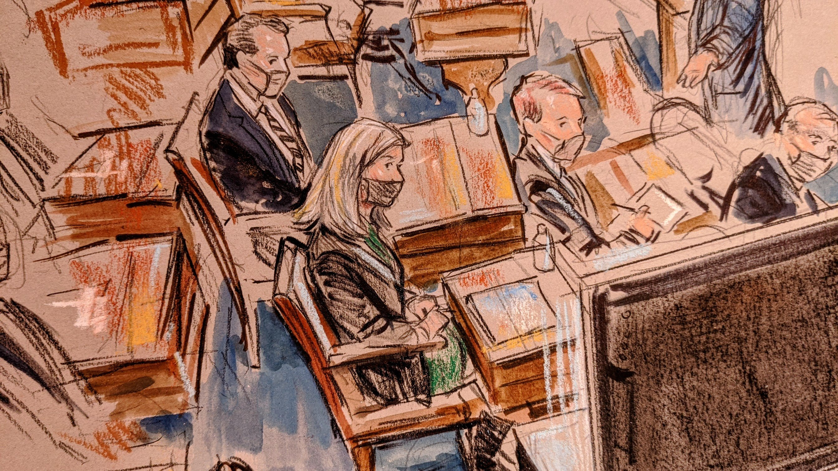 Senators listen during the Senate impeachment trial of former President Trump, on February 10, 2021.