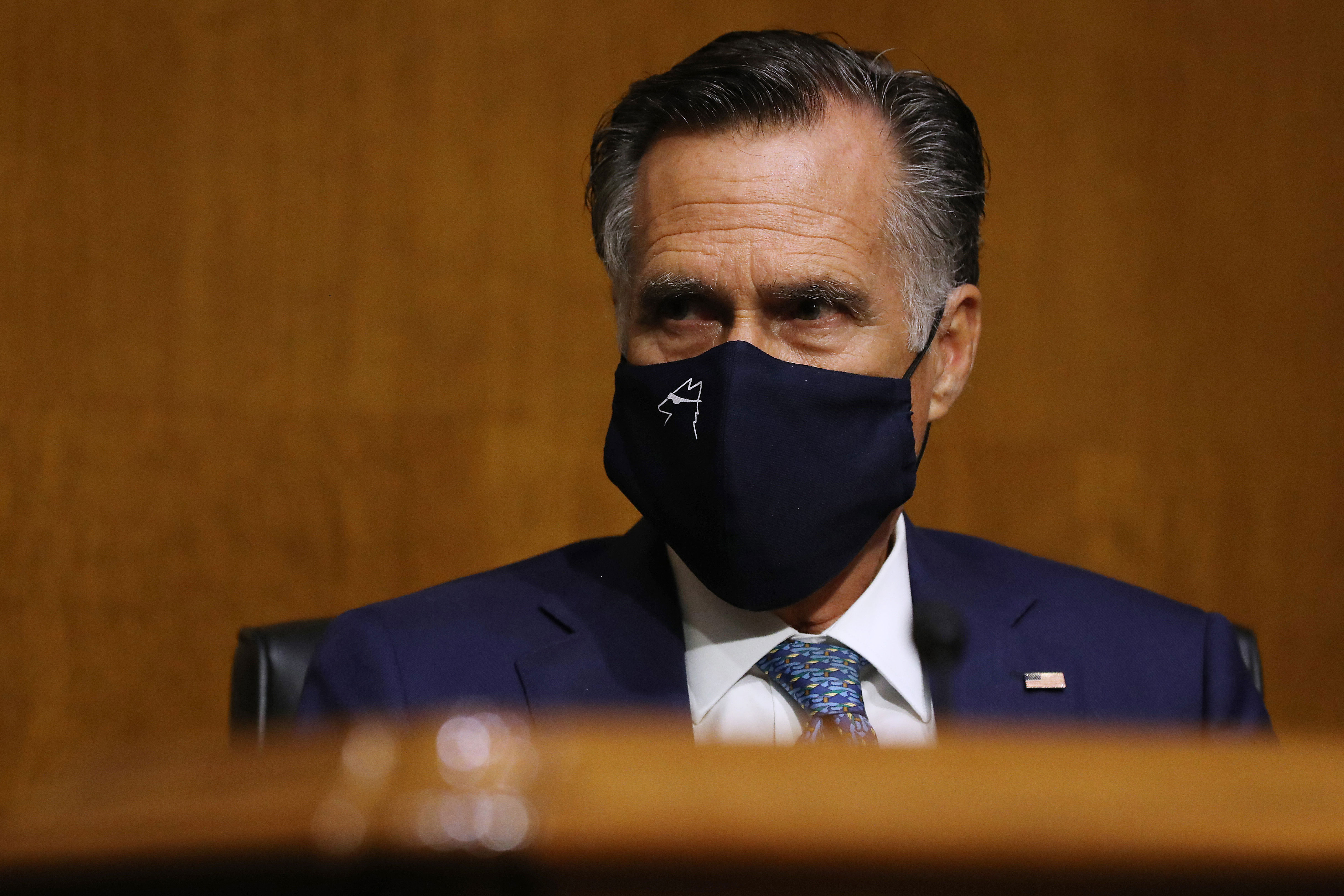 Sen. Mitt Romney attends a hearing in Washington, DC, on August 4.