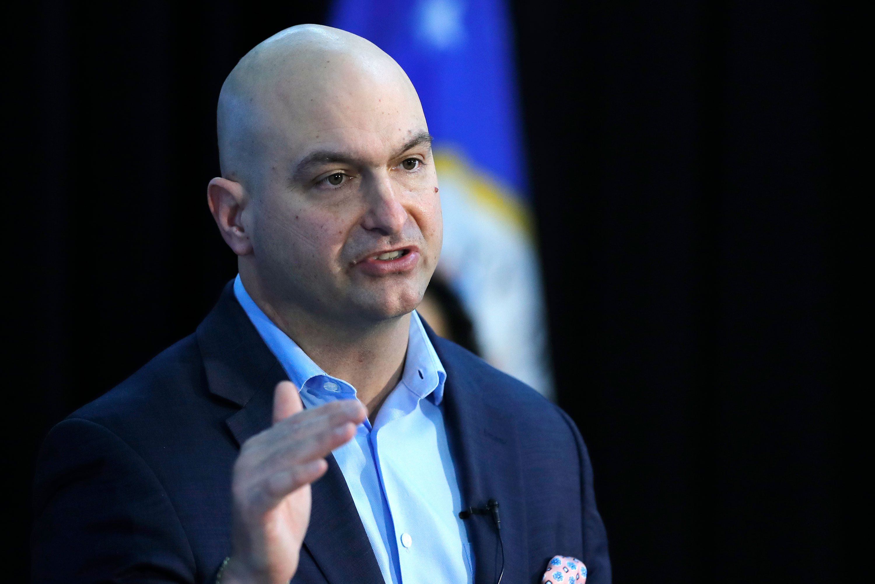 Detroit Schools Superintendent Nikolai Vitti speaks about the transition to virtual learning on April 23 in Detroit, Michigan.
