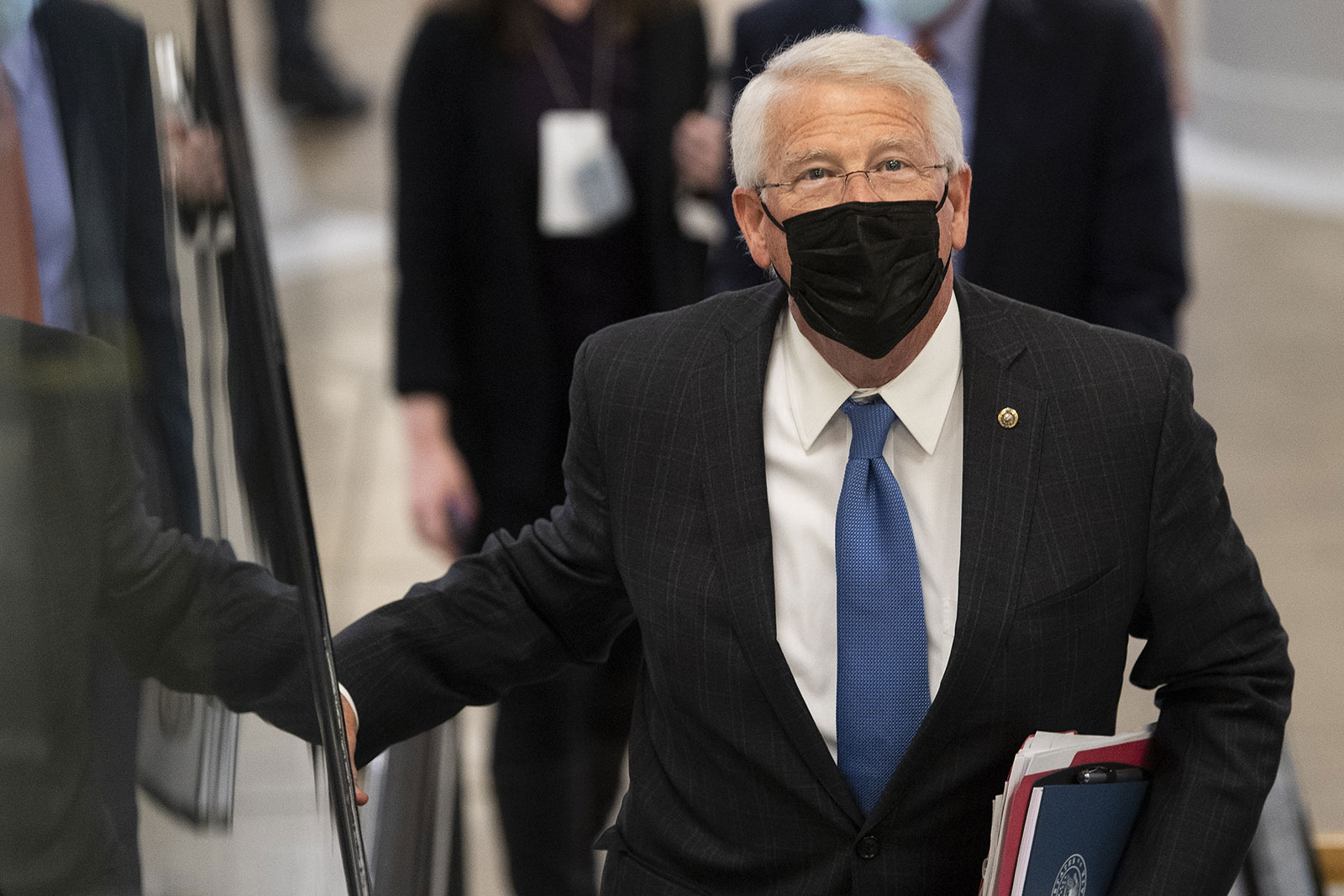 Sen. Roger Wicker walks through the US Capitol on Tuesday.