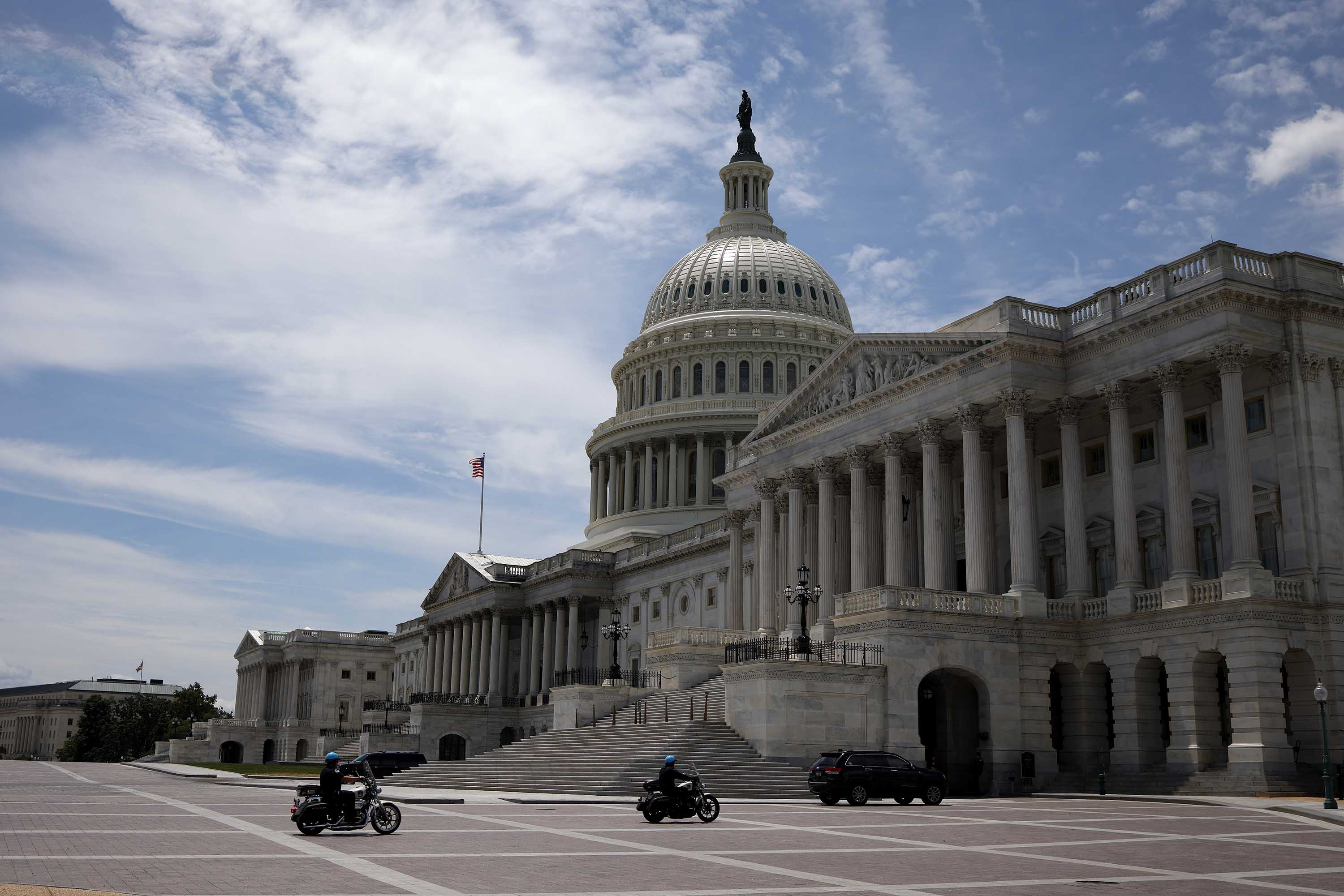 The U.S. Capitol is pictured on June 1, in Washington, DC.