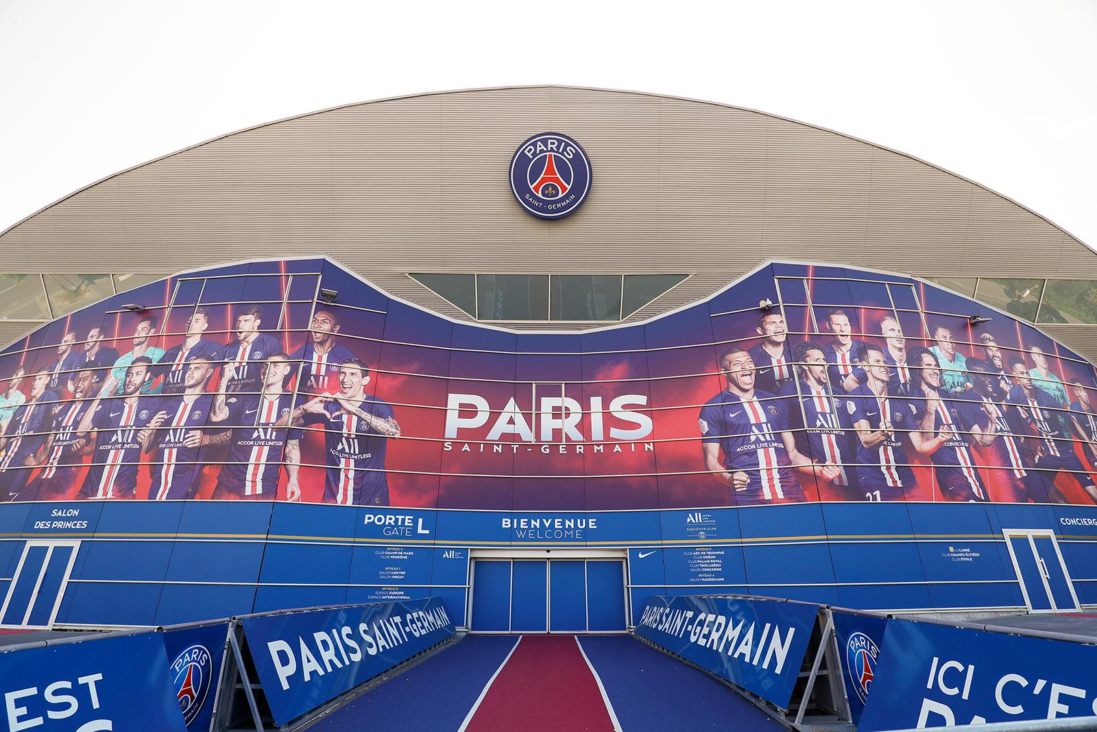 A general view of the Parc des Princes, home of Paris Saint-Germain, on Friday, April 24, in Paris.