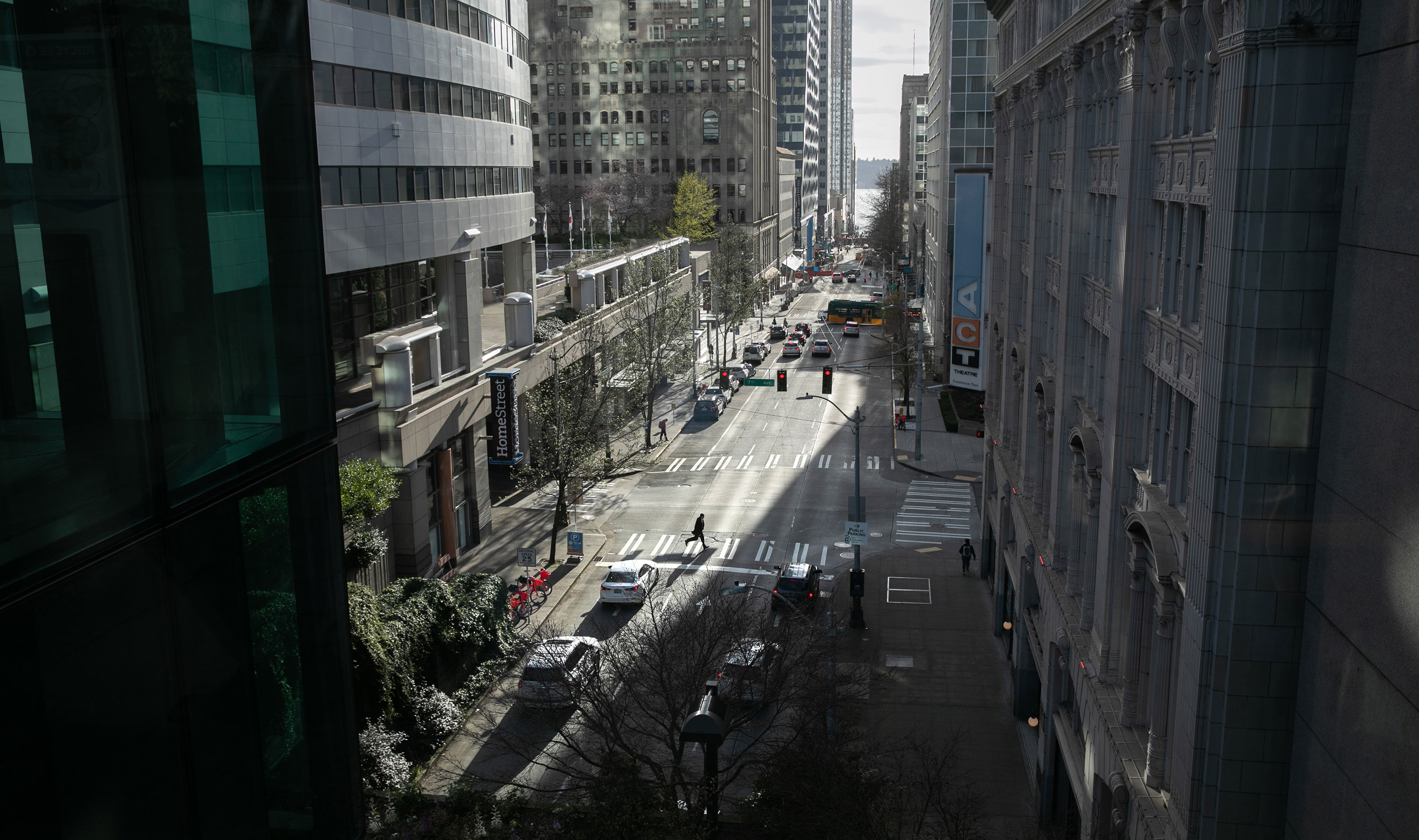Downtown Seattle is seen on March 12.