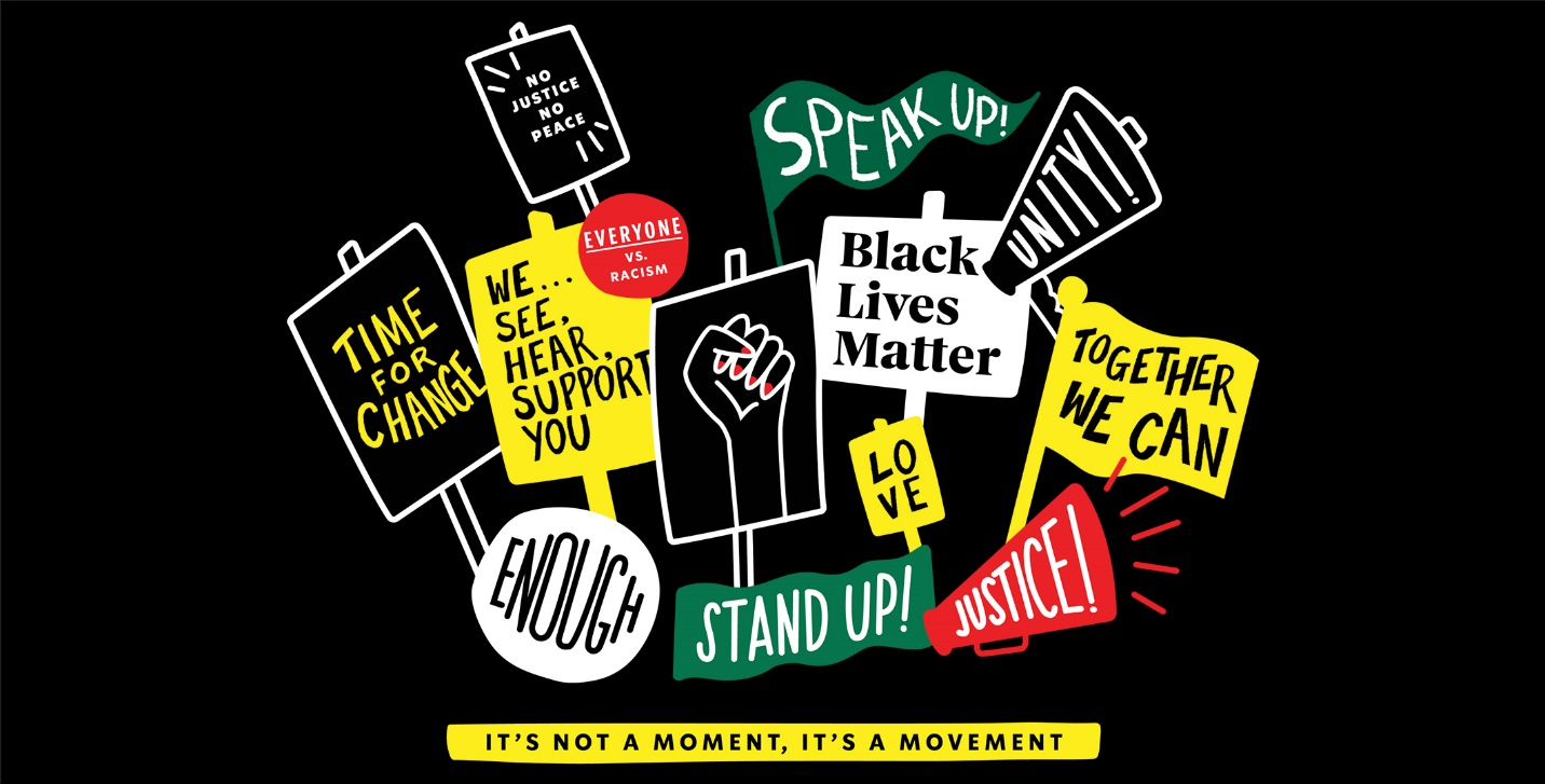Starbucks released a T-shirt design supporting the Black Lives Matter movement.
