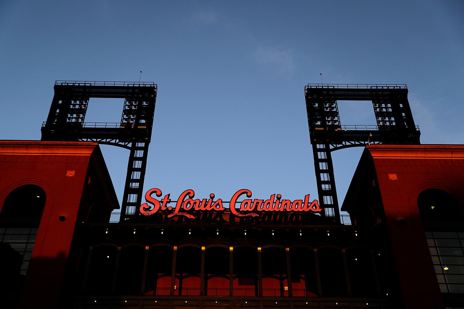An empty Busch Stadium, home of the St. Louis Cardinals, as seen on August 7.