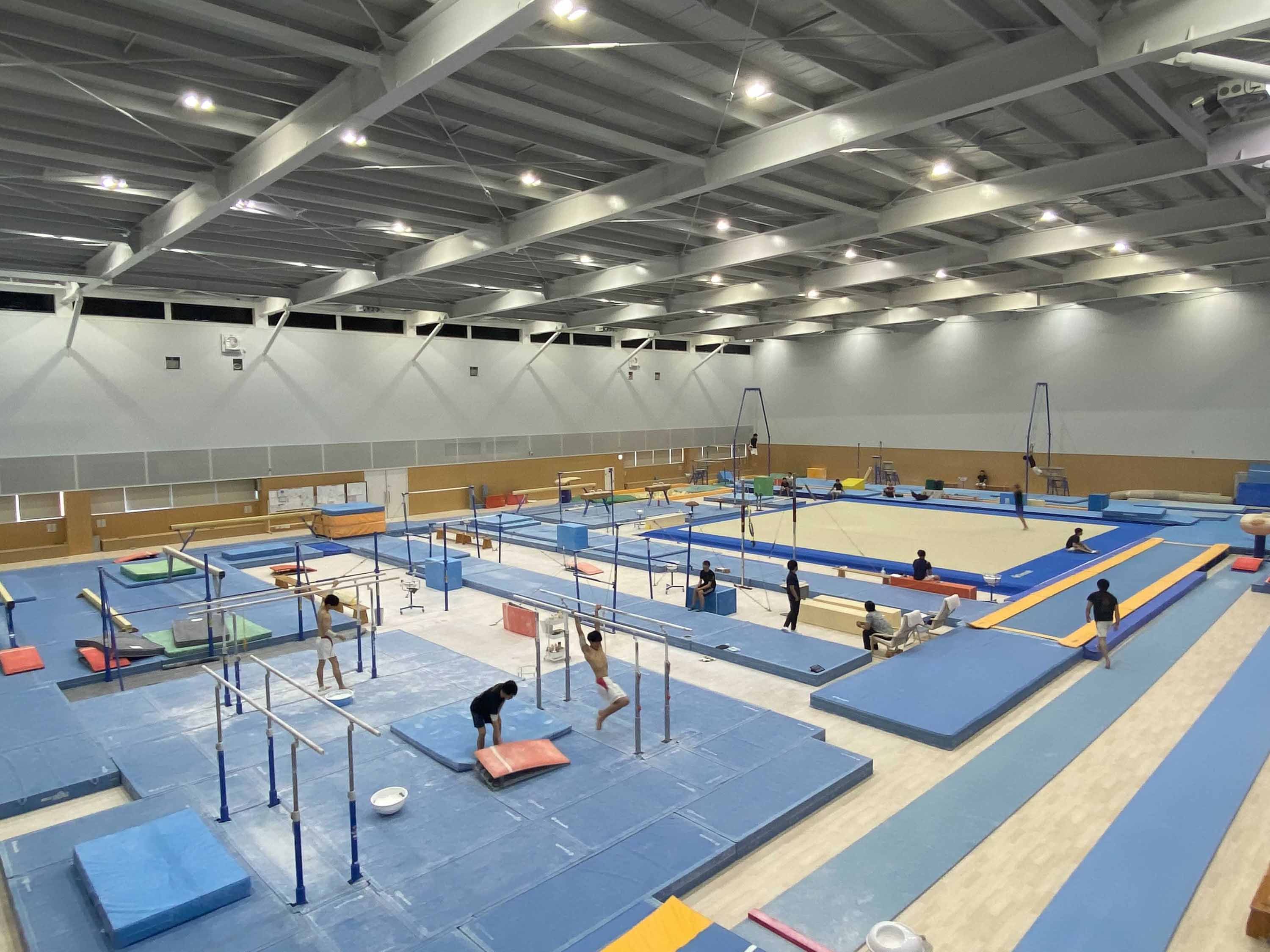 The Ogawa Gymnastics Arena is pictured at Juntendo University, where Team USA gymnast Simone Biles secretly trained over several days last week to get back into form to compete on the balance beam. She won a bronze medal in the event on Tuesday - her seventh Olympic medal.