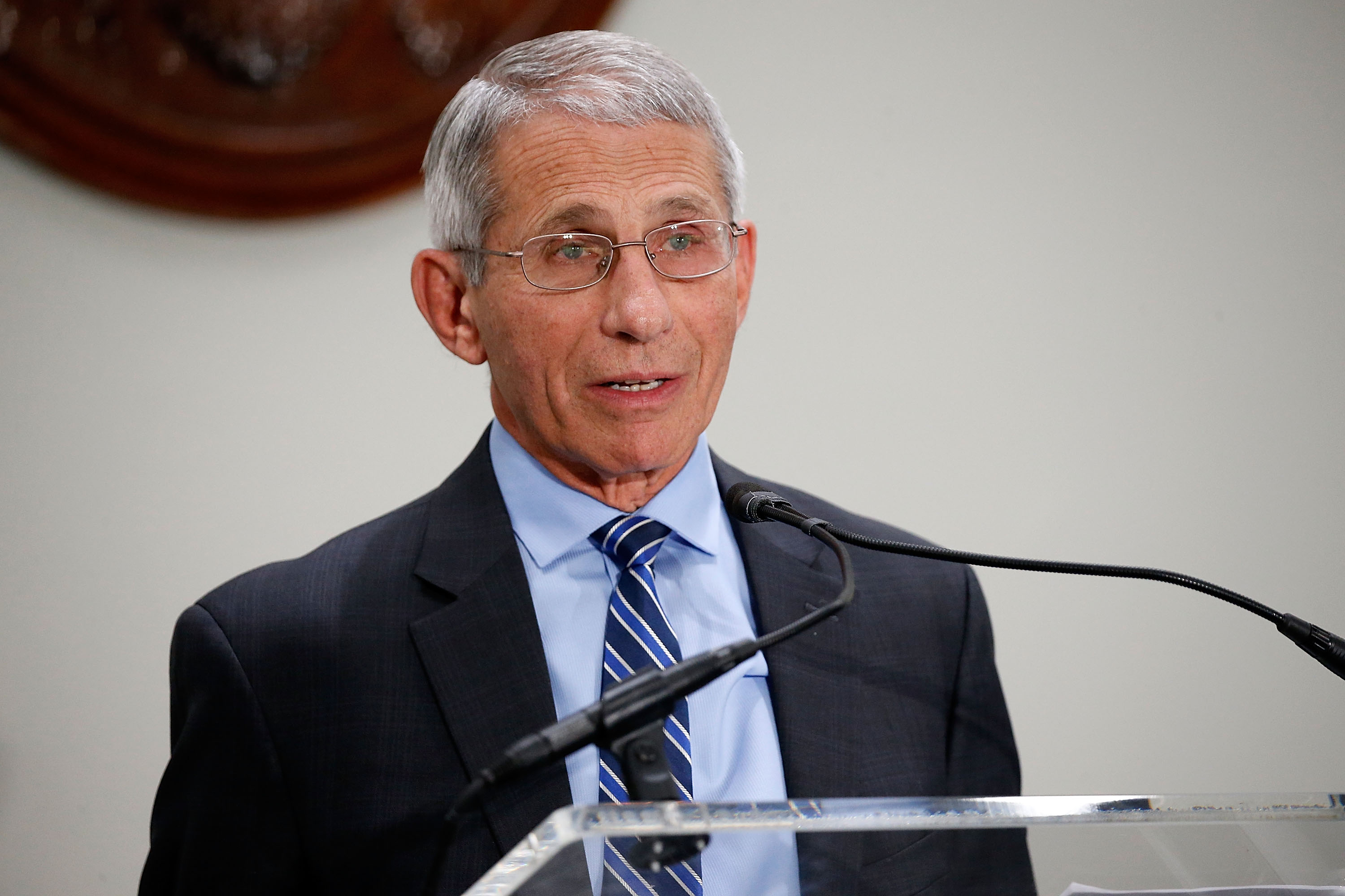 Fauci speaks in 2017.