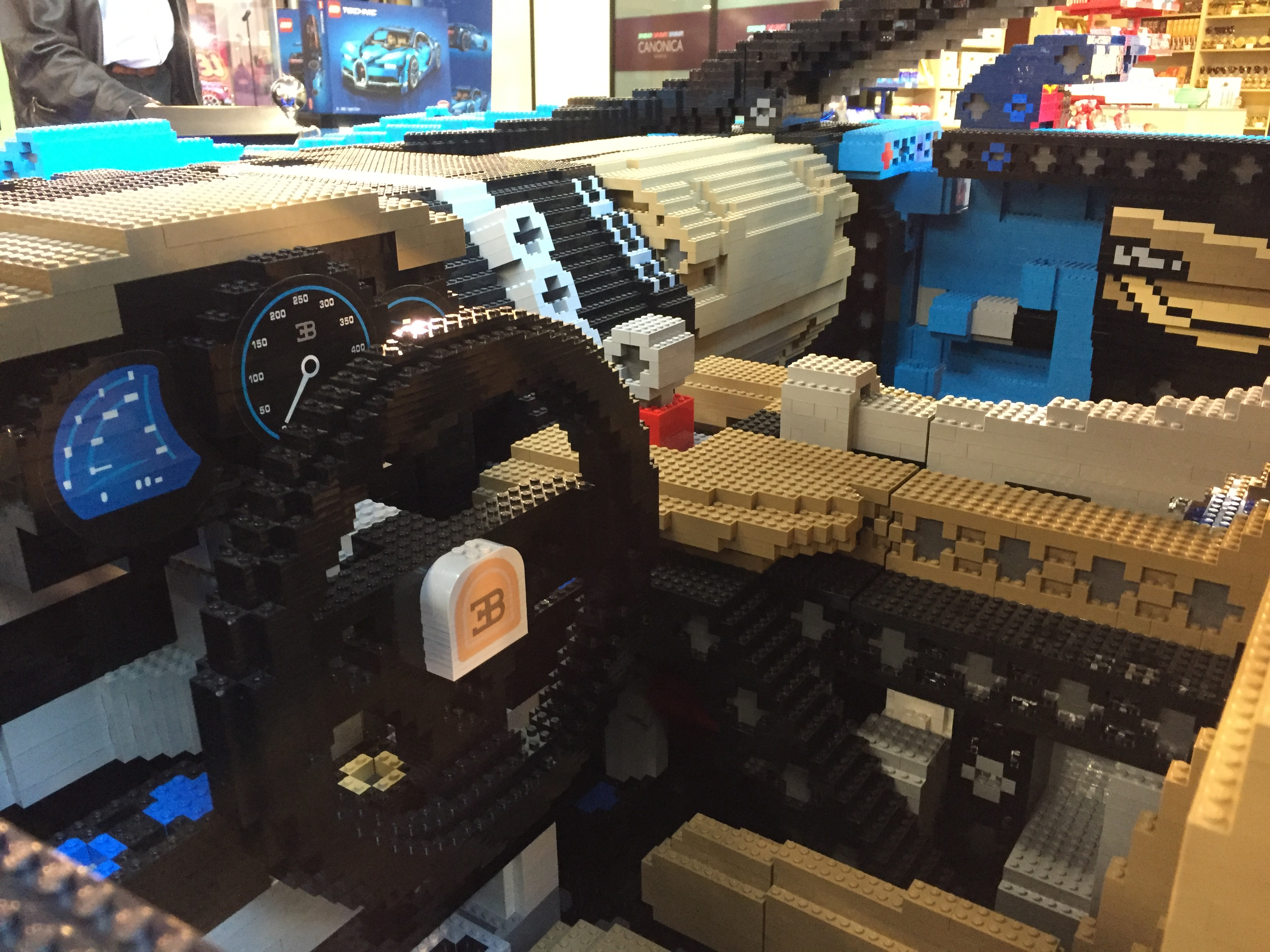 Inside the Lego Bugatti. Photo: Charles Riley/CNN