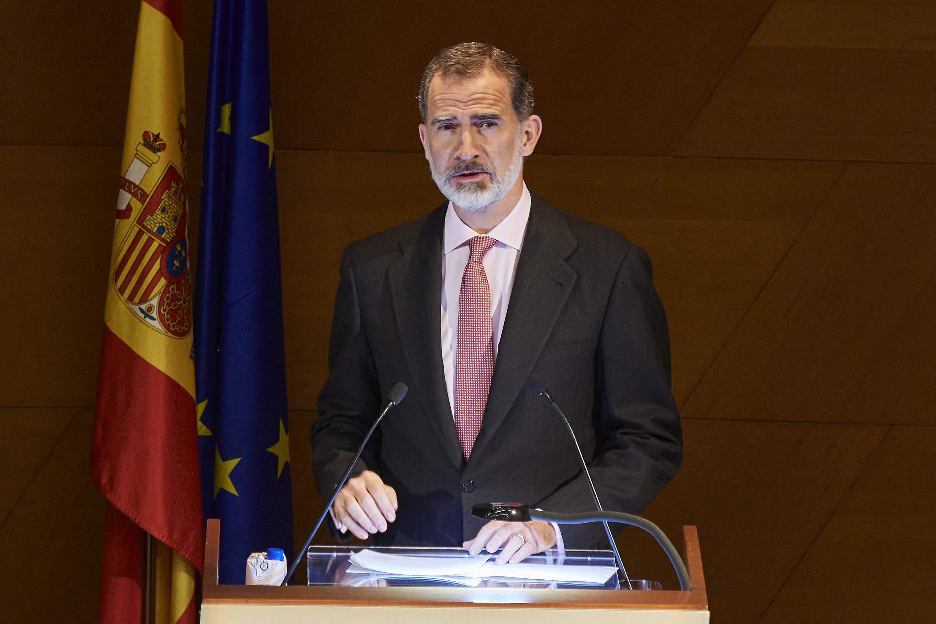 King Felipe VI of Spain is pictured at an awards event in Madrid on November 18.