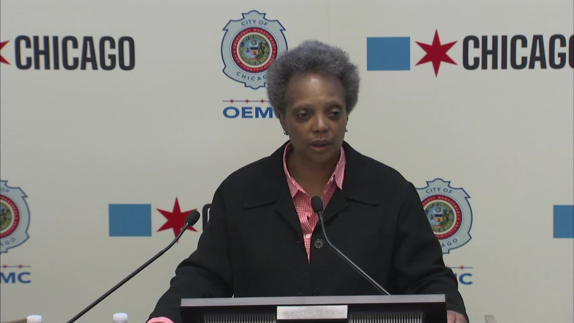 Chicago Mayor Lori Lightfoot speaks at a press conference on June 1.