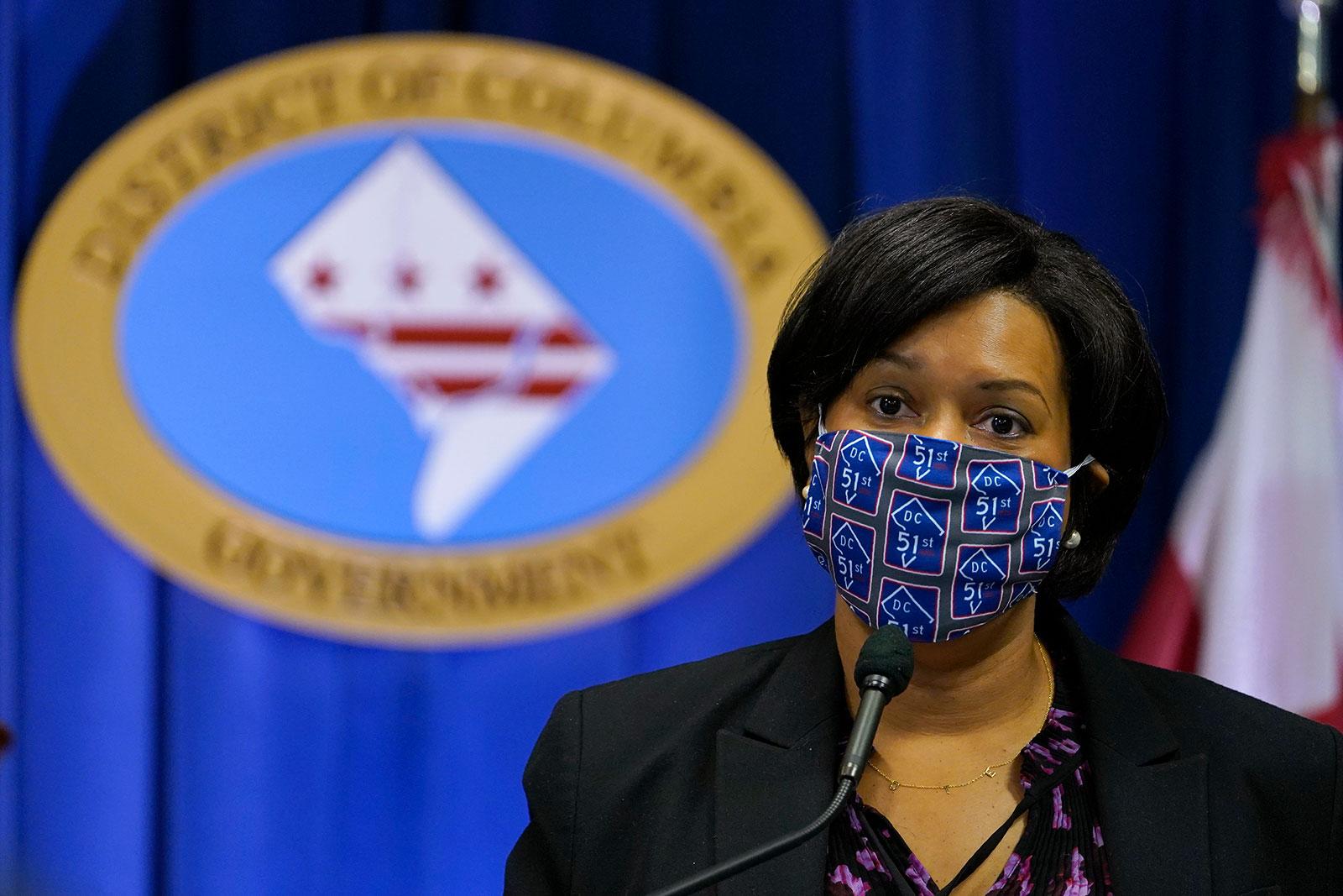 Washington, DC,Mayor Muriel Bowser speaks at a press conference in November.