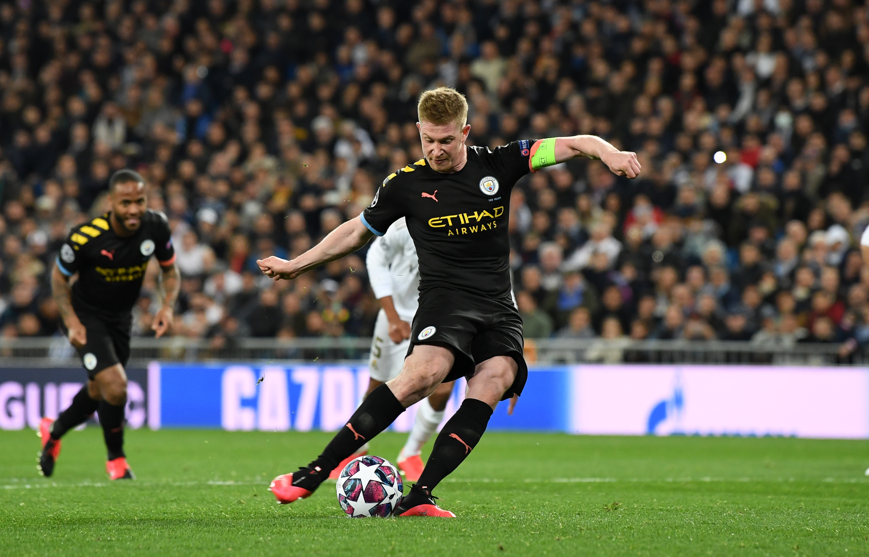 Kevin De Bruyne slots the penalty home.