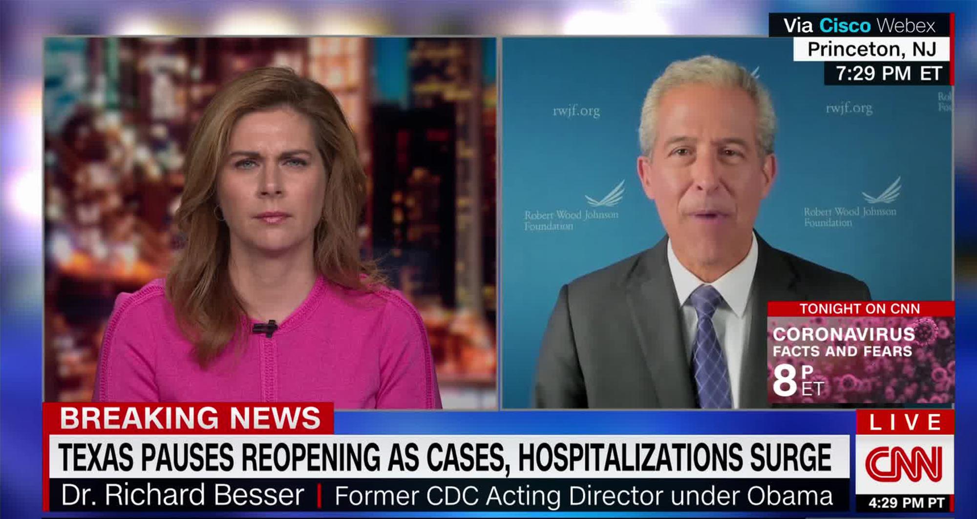 CNN's Erin Burnett and Dr. Richard Besser.