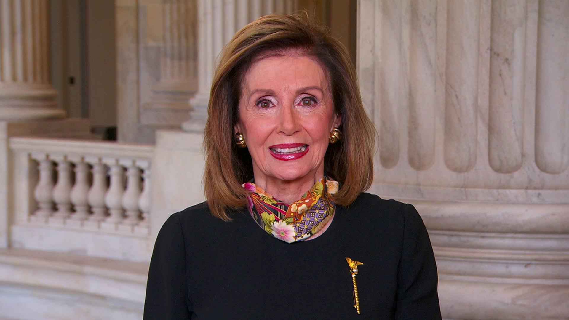 House Speaker Nancy Pelosi speaks with CNN on Sunday, September 27.