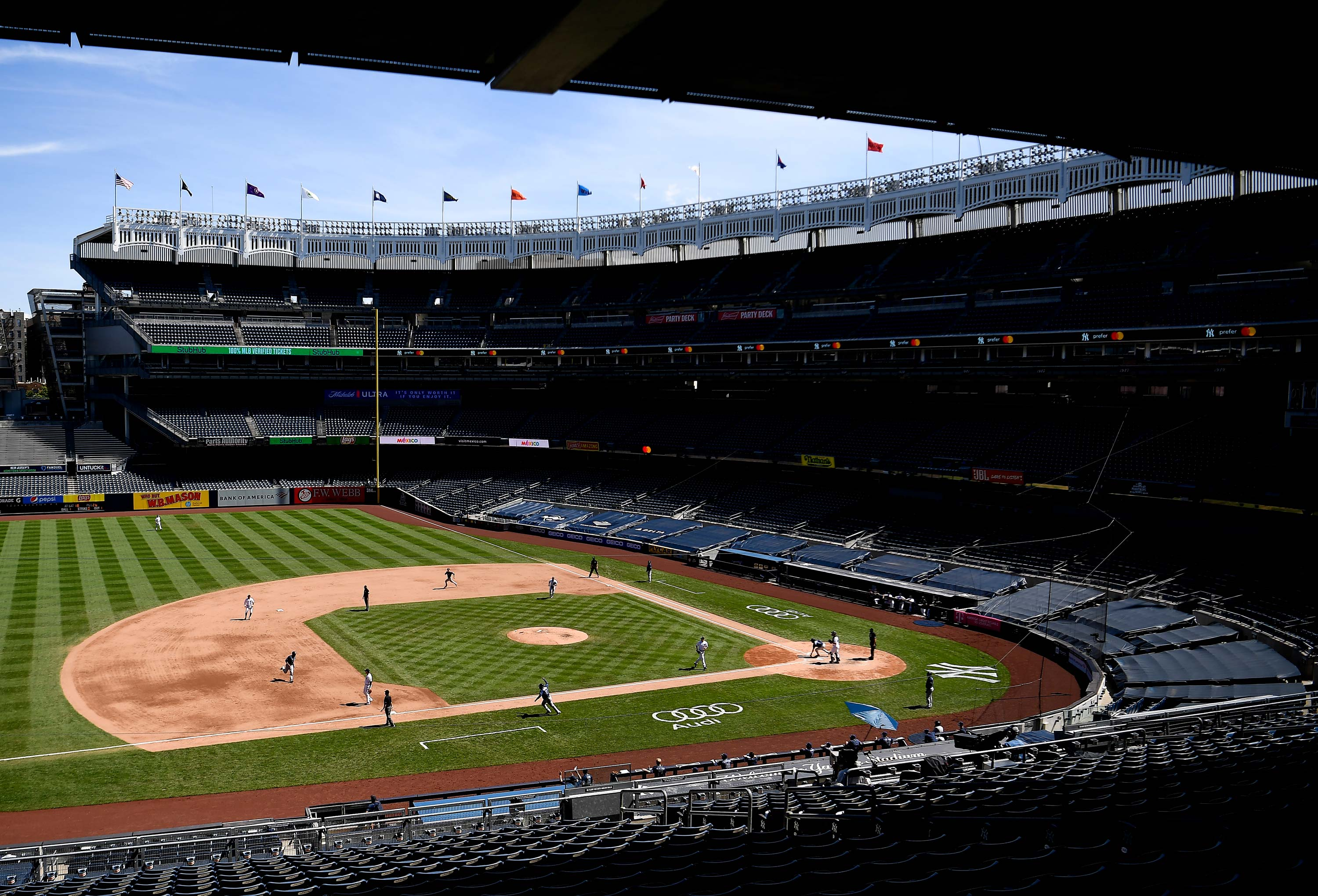 A general view of Yankee Stadium is seen on August 20, 2020, in New York City.