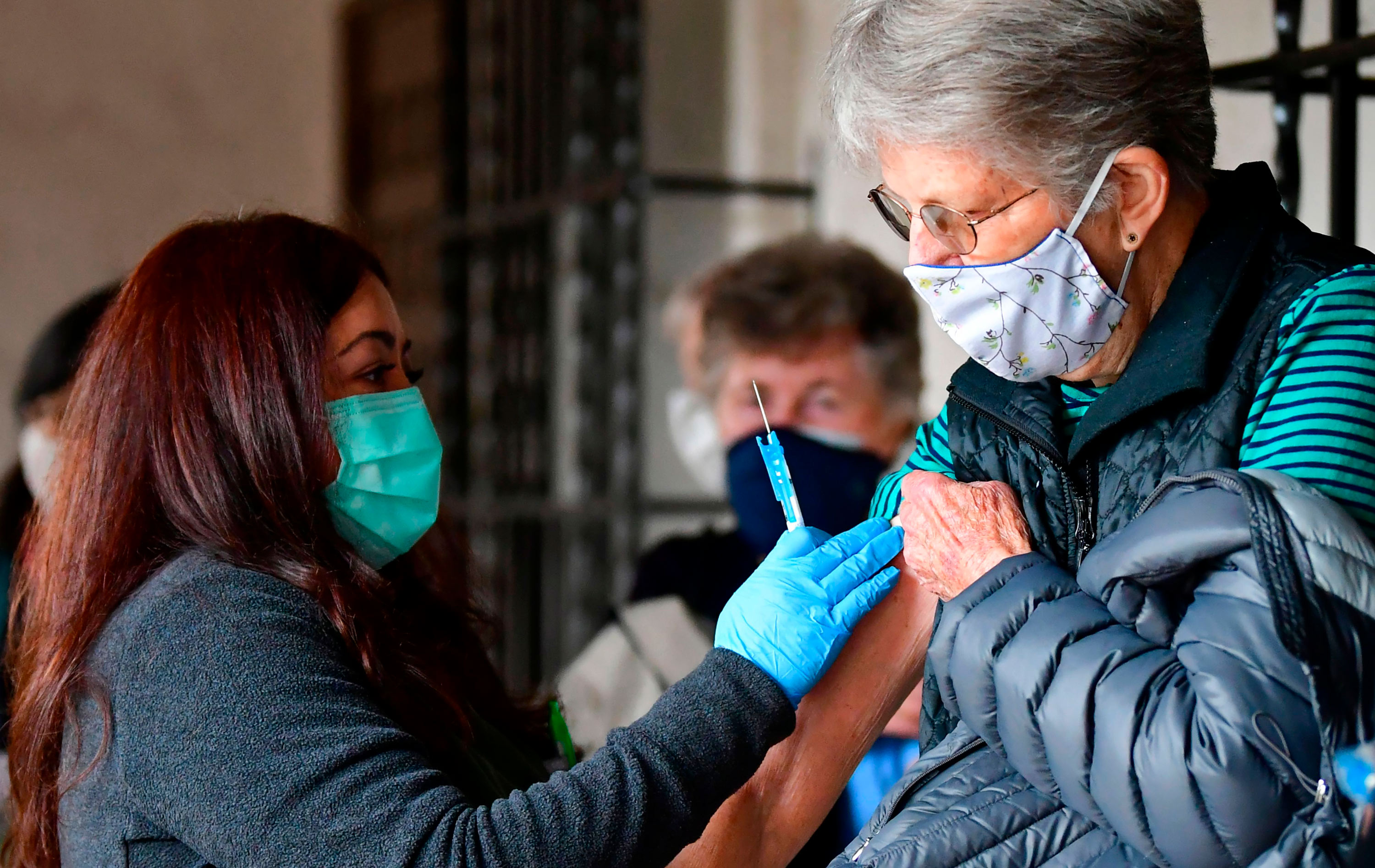 Nurse Liliana Ocampo prepares to administer the Moderna Covid-19 vaccine on March 3 in Los Angeles at the Sisters of Saint Joseph of Carondelet independent living center.