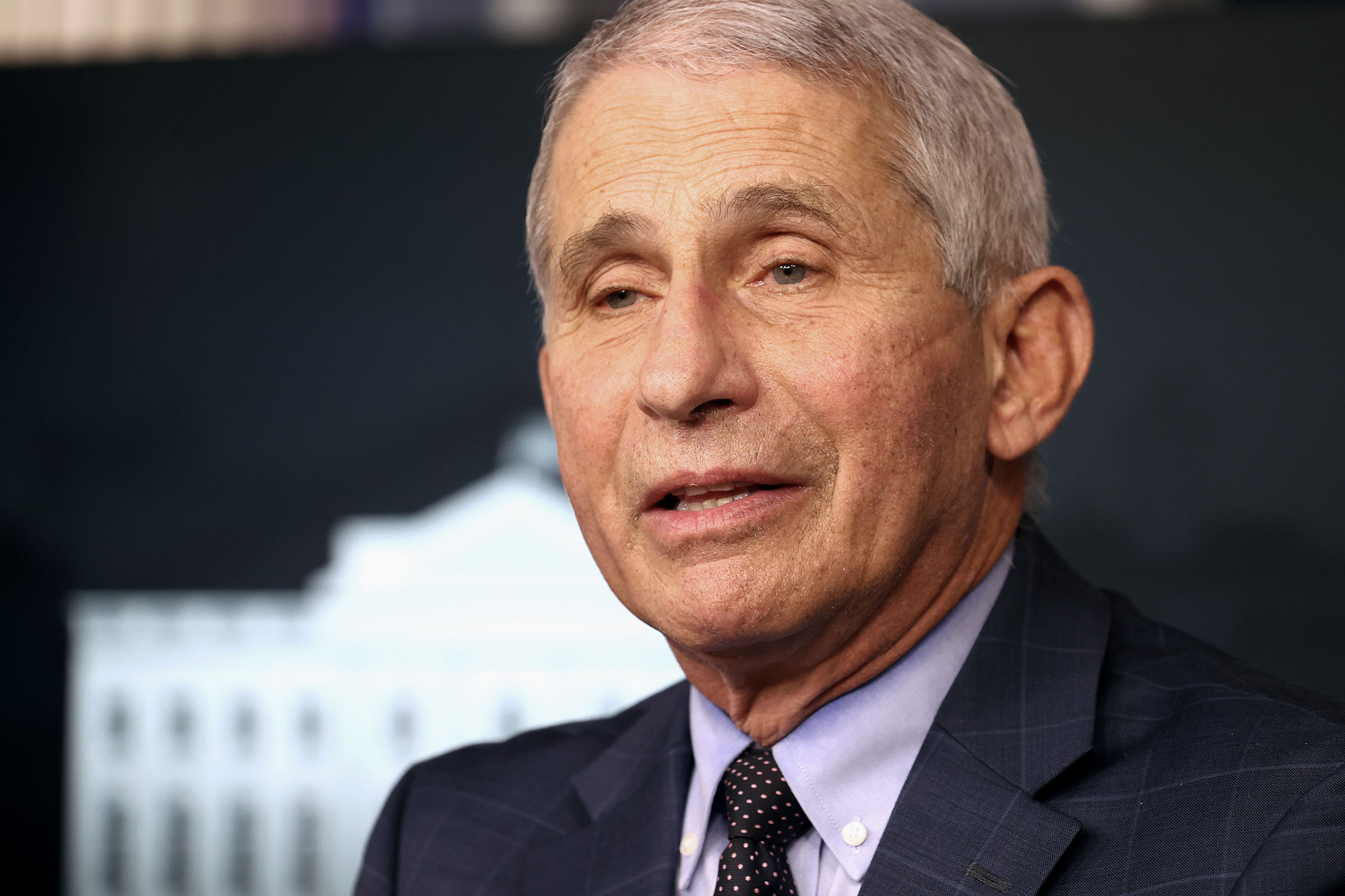 Dr. Anthony Fauci speaks during a White House Coronavirus Task Force press briefing on November 19 in Washington, DC.
