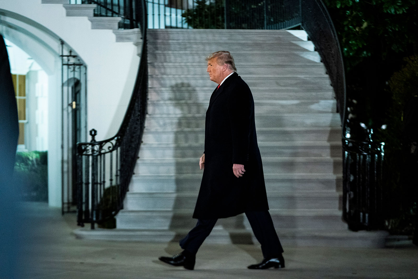 President Trump returns toSouth Lthe White House on Tuesday, Jan 12, 2021 in Washington, DC. (Photo by Jabin Botsford/The Washington Post via Getty Images)