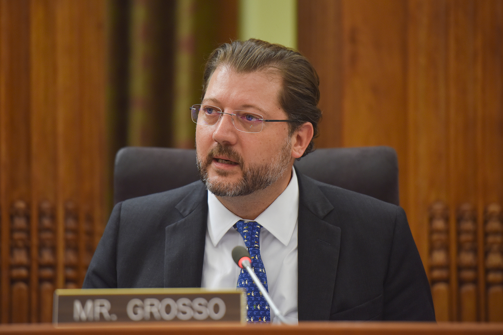 Councilmember David Grosso speaks at a D.C. City Council vote on Tuesday, May 2, 2017, in Washington, DC.