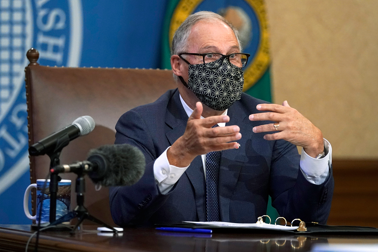 Washington Gov. Jay Inslee speaks during a news conference on Nov. 15, at the Capitol in Olympia, Washington.