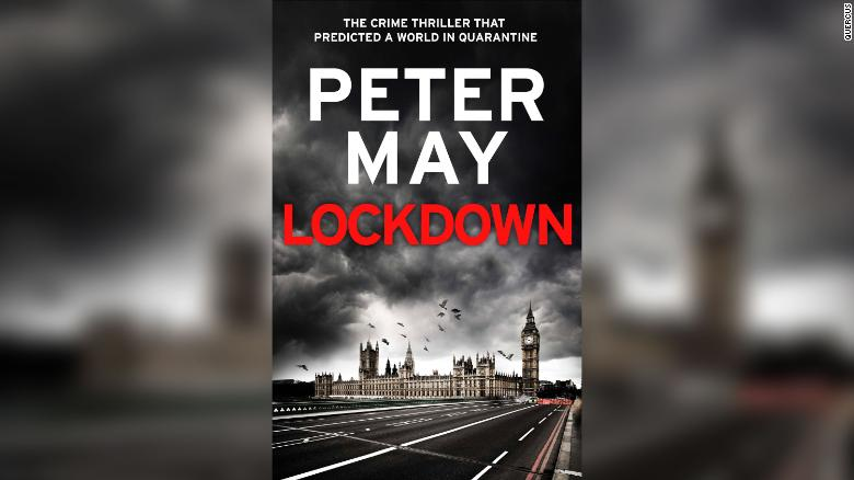 "The cover of Peter May's book ""Lockdown."""